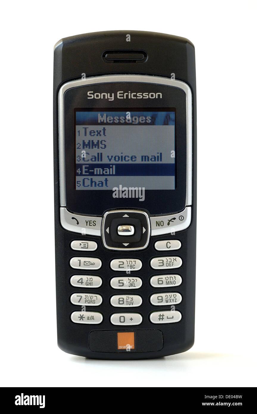 Sony Ericsson mobile phone with Hebrew and English keypad - Stock Image