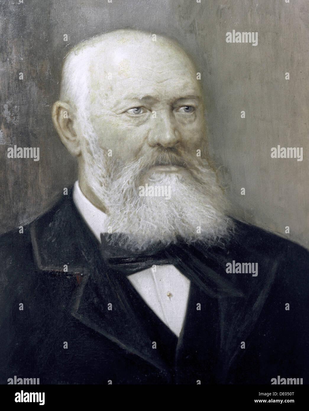 Alexander Ostrovsky, Russian playwright, 1884.  Artist: Alexander Lensky - Stock Image