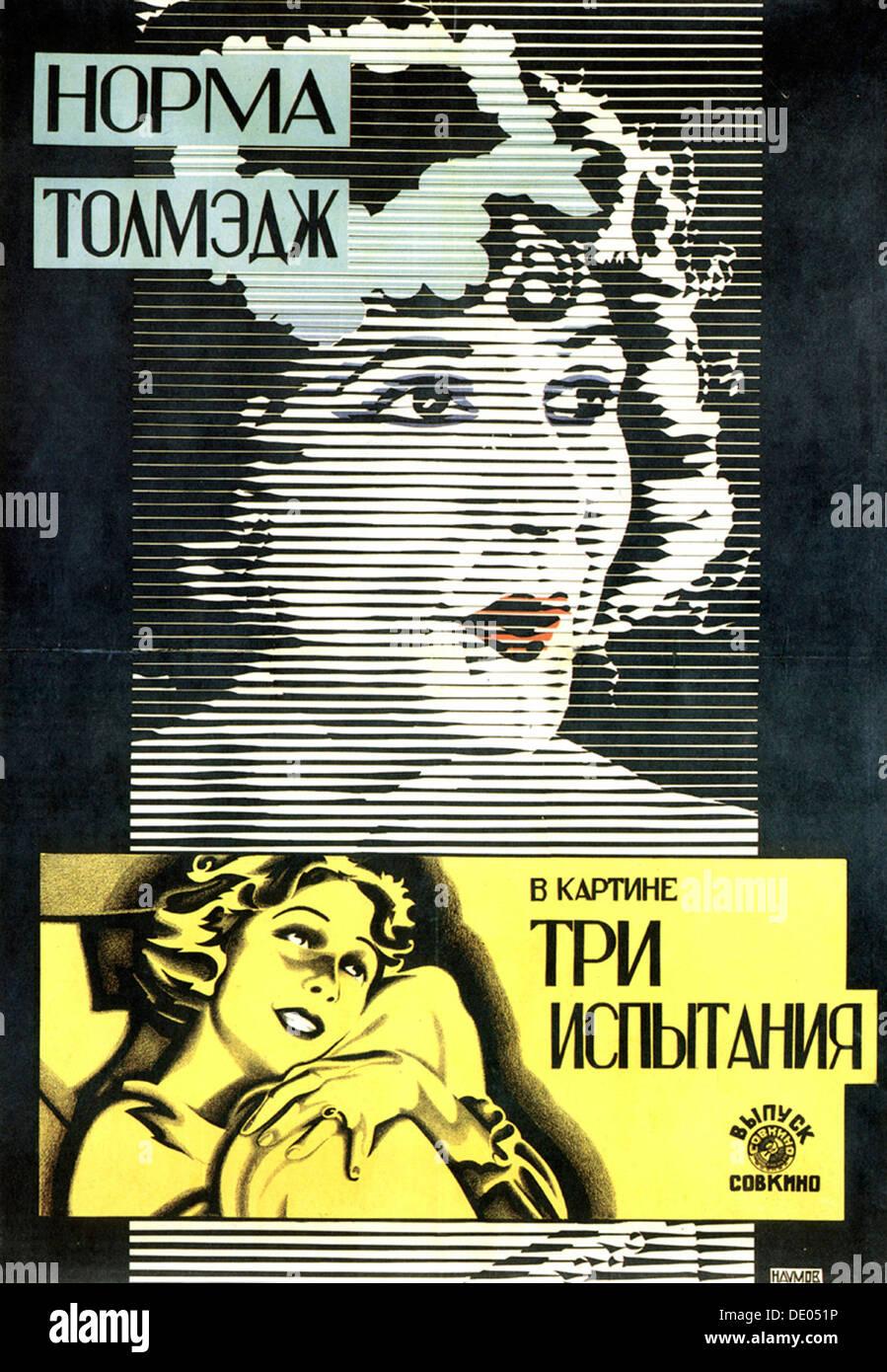 Poster of American actress and film star Norma Talmadge, 1926.  Artist: Alexander Naumov - Stock Image