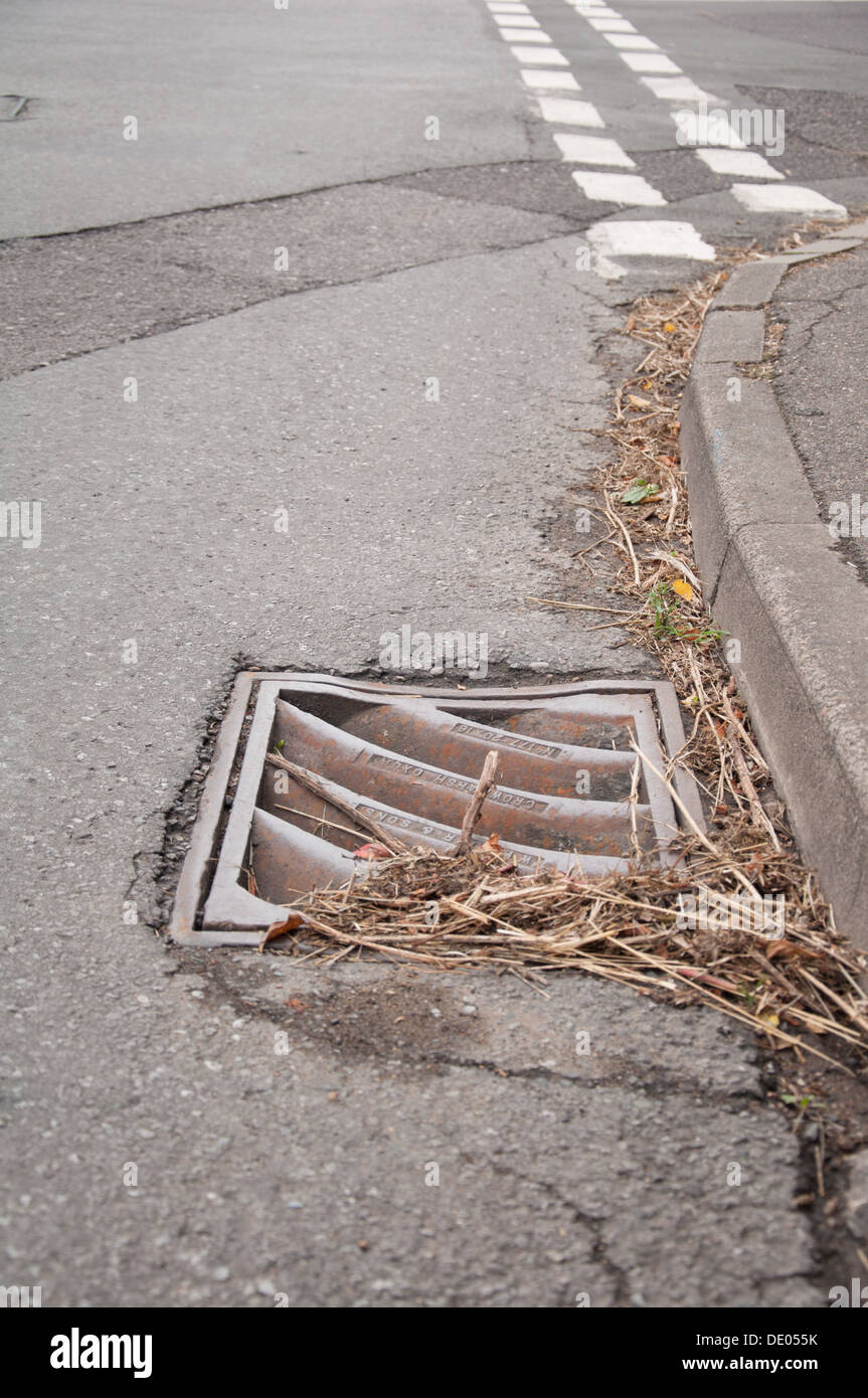 Blocked Drains - Stock Image
