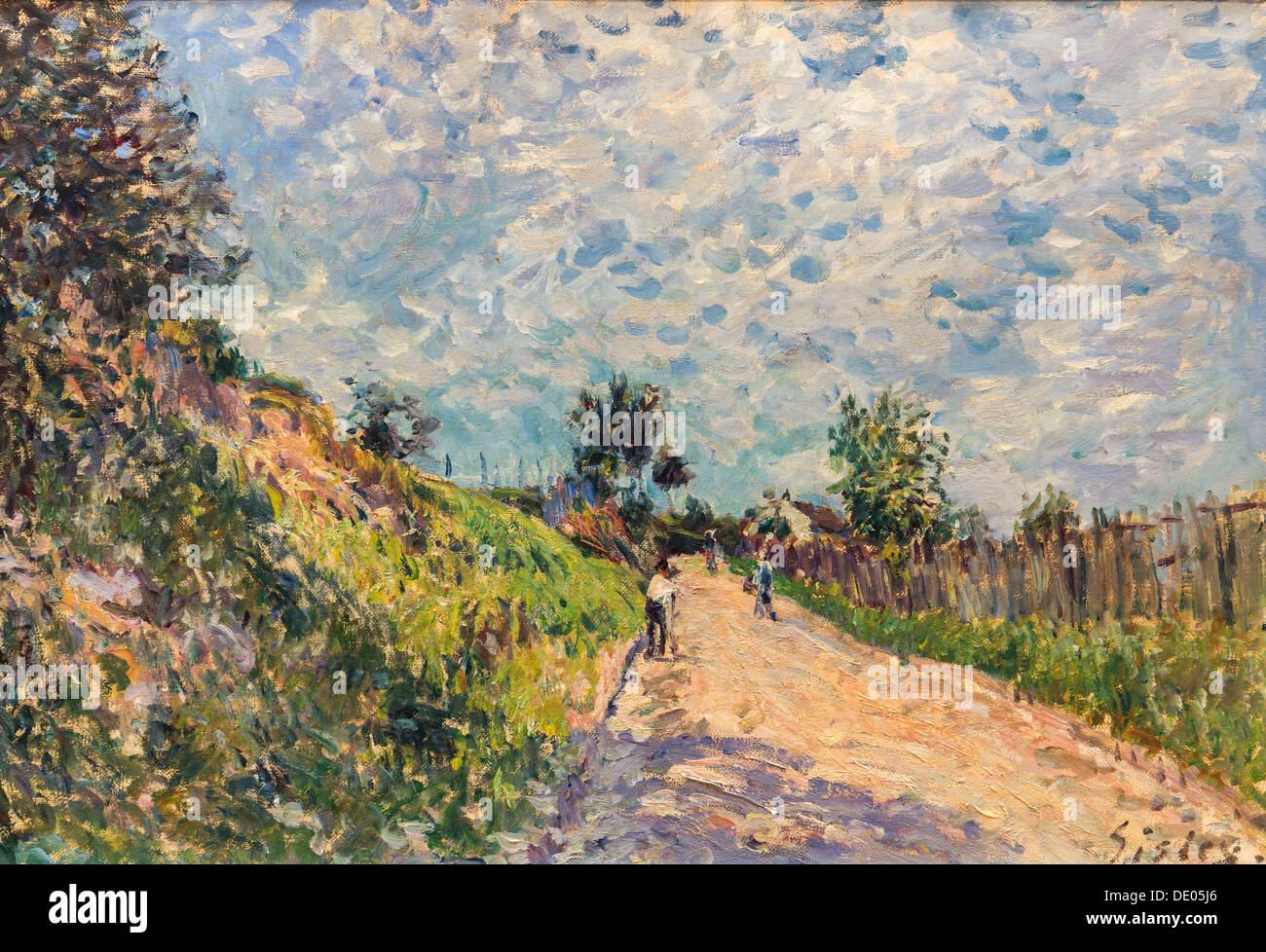 19th century  -  Upward Path, 1870 - Alfred Sisley Philippe Sauvan-Magnet / Active Museum oil on canvas - Stock Image