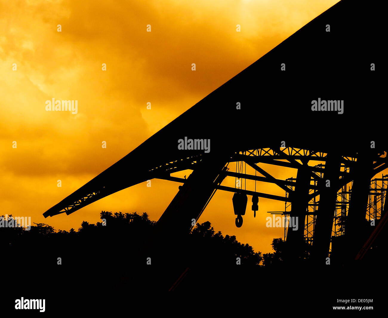 construction Silhouette - Stock Image