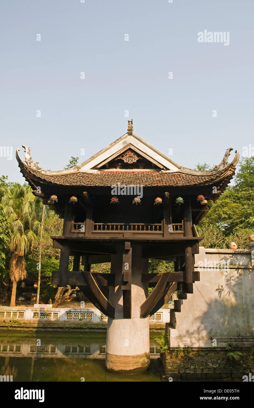 One Pillar Pagoda, Hanoi, Vietnam, Asia Stock Photo