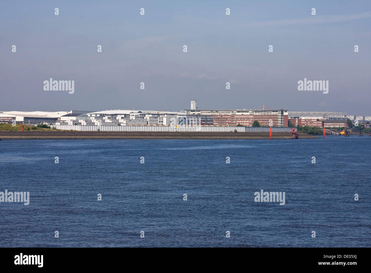 Factory premises Airbus aircraft manufacturer, Hamburg - Stock Image