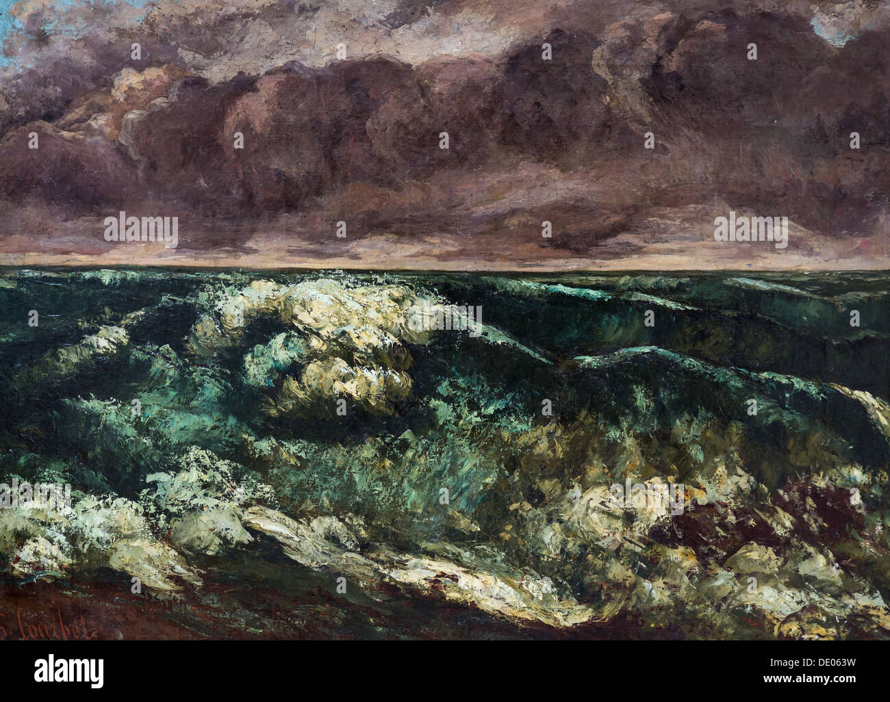 19th century  -  The Wave, 1870 - Gustave Courbet Philippe Sauvan-Magnet / Active Museum oil on canvas - Stock Image