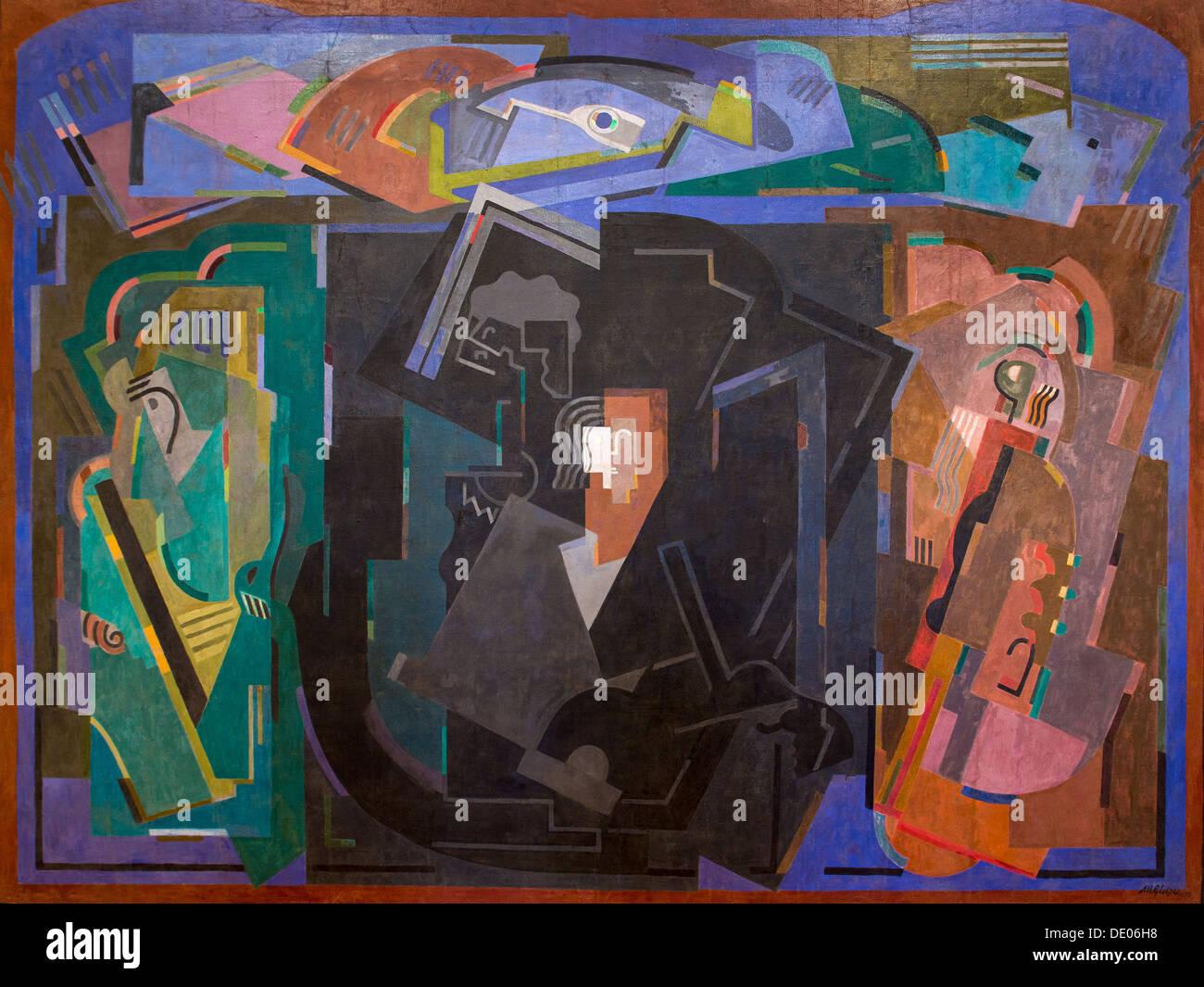 20th century  -  Black center, 1925 - Albert Gleizes Philippe Sauvan-Magnet / Active Museum oil on canvas - Stock Image