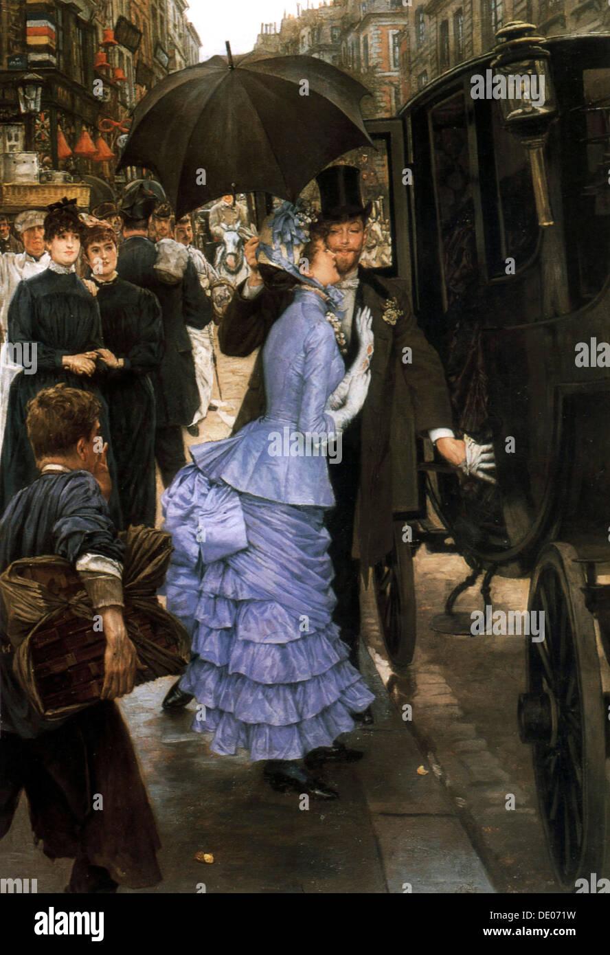 'The Bridesmaid', 1883-1885.  Artist: James Tissot - Stock Image