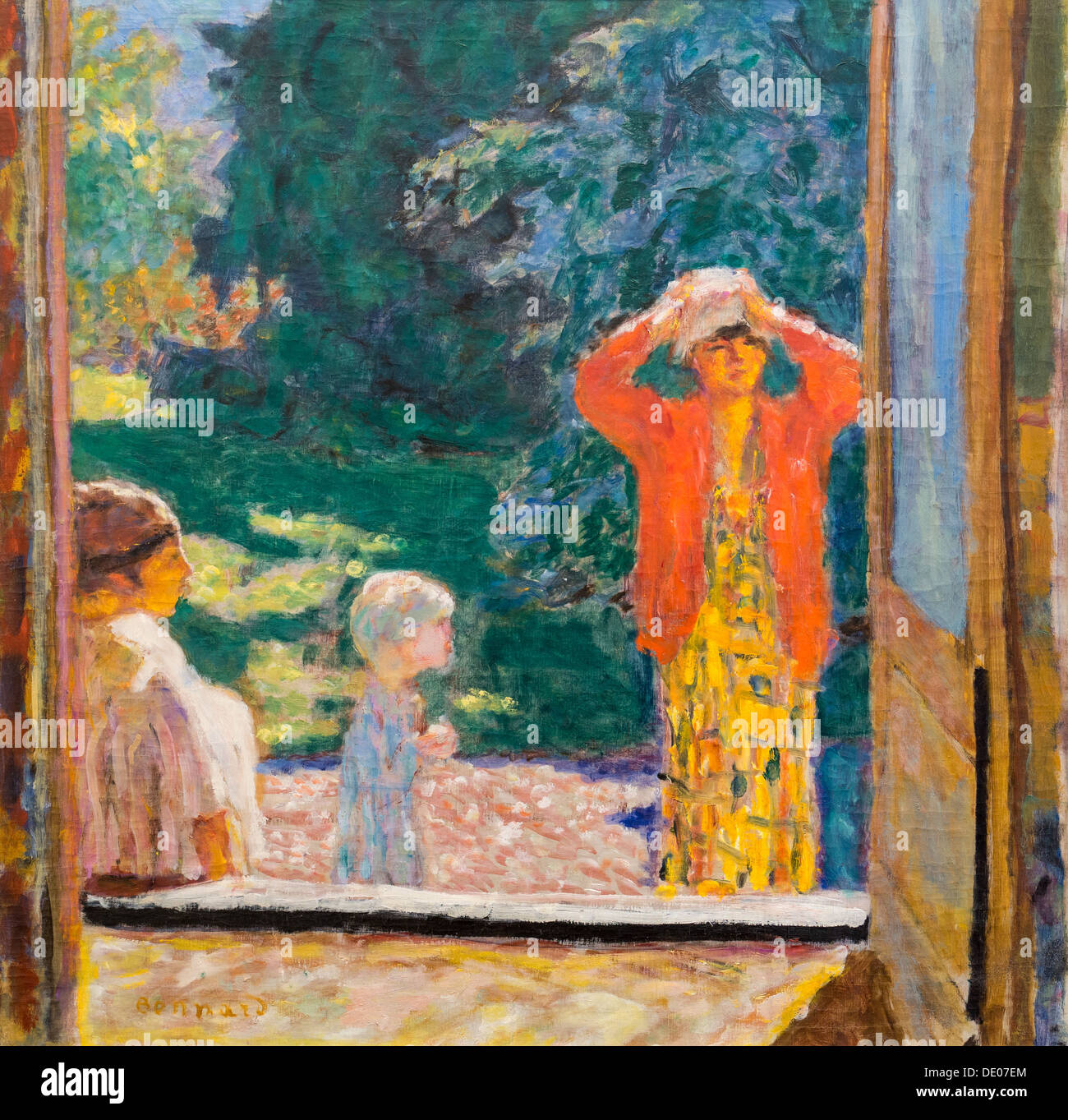 20th century  -  Window to the front of the Grand Lemps, 1923 - Pierre Bonnard oil on canvas - Stock Image