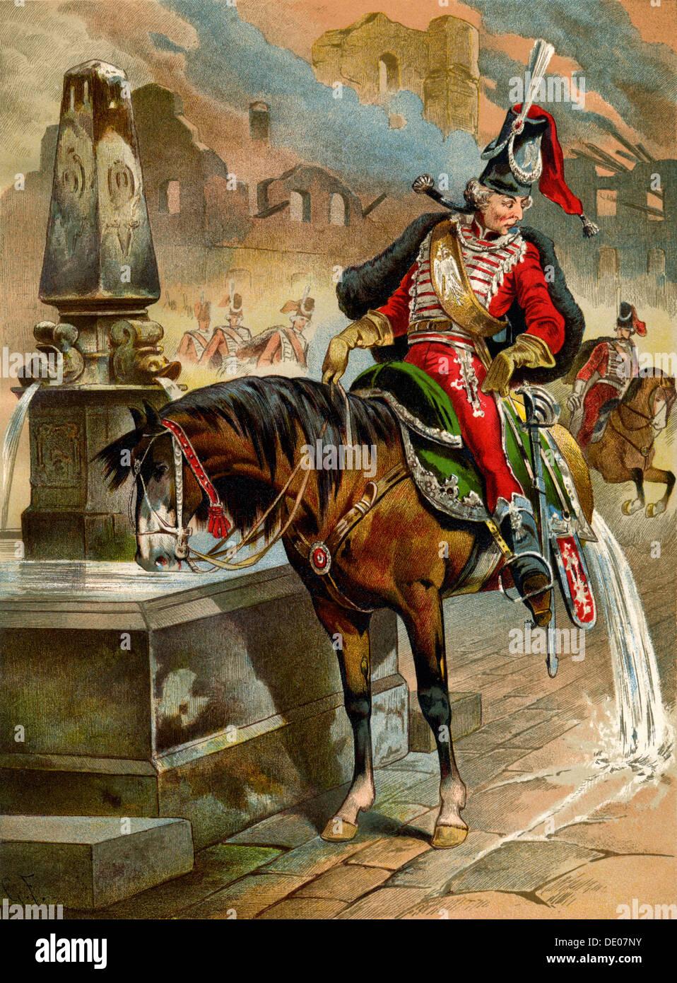 Book illustration, 1896.  Artist: Franz Gottfried - Stock Image