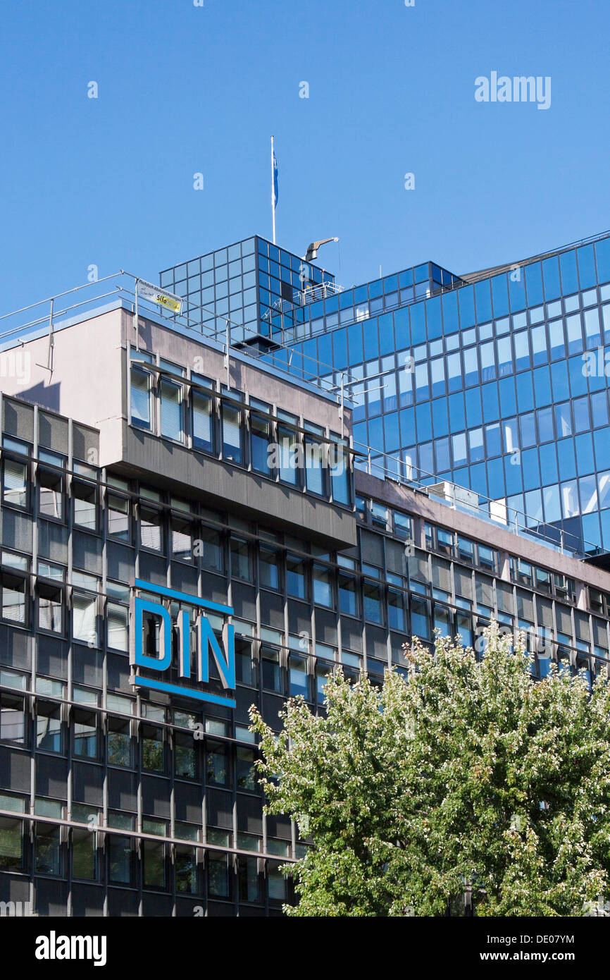 German Institute for Standardization, DIN, the most important national standards organization, Berlin - Stock Image
