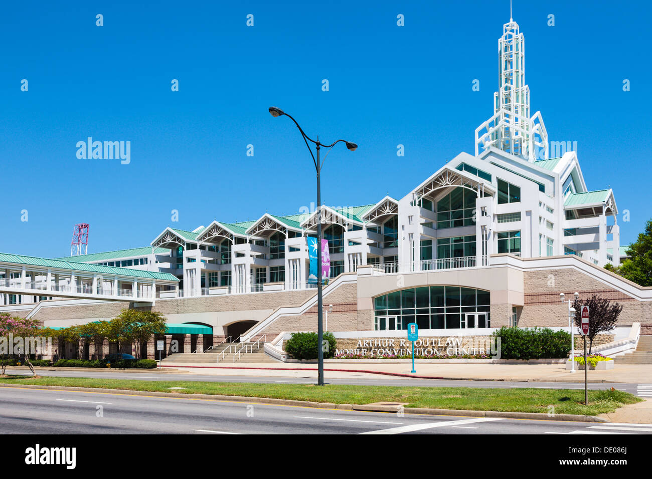 Arthur R. Outlaw Mobile Convention Center in downtown Mobile, Alabama - Stock Image