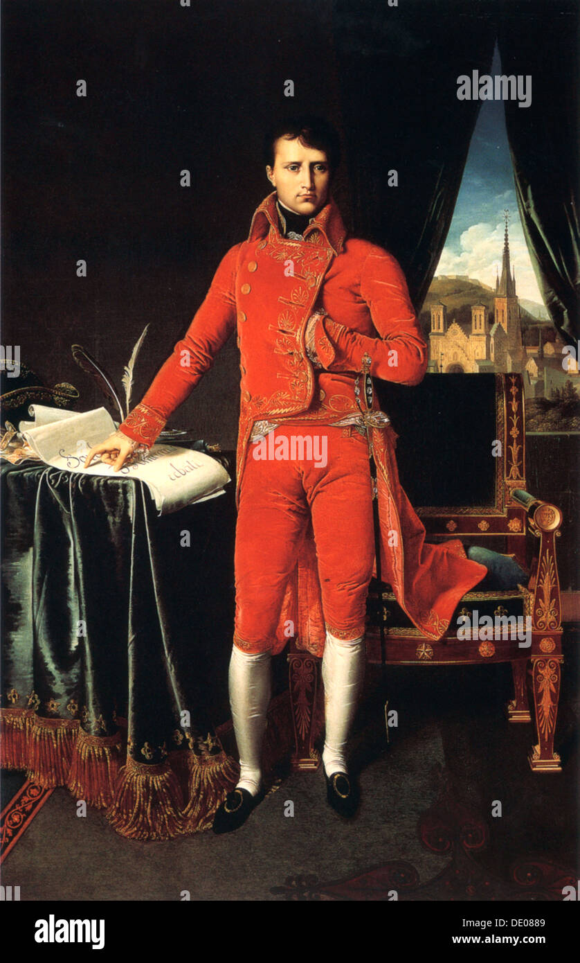 'Napoleon Bonaparte as First Consul of France', 1803-1804.  Artist: Jean-Auguste-Dominique Ingres - Stock Image