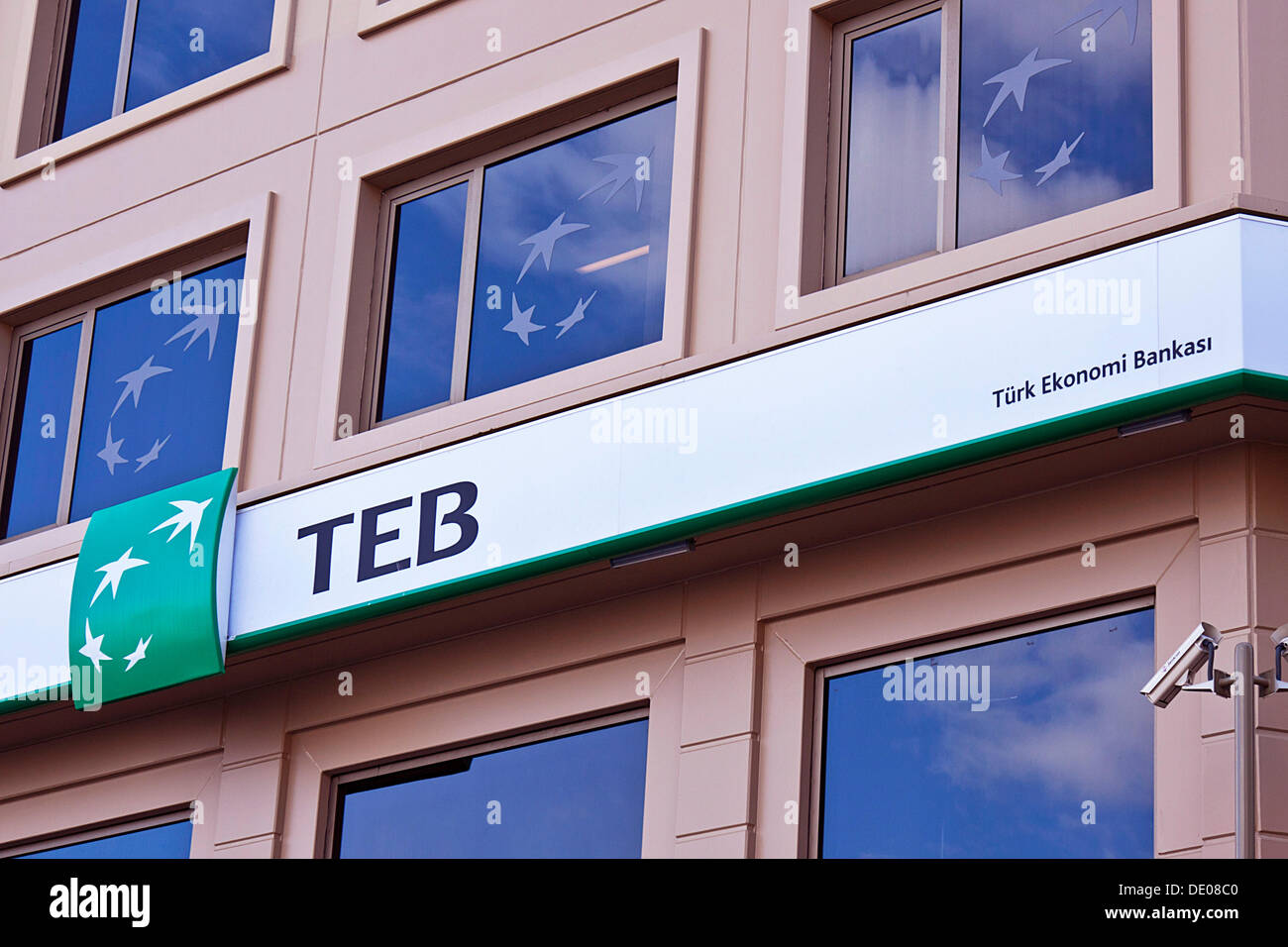 Branch of the TEB, Tuerk Ekonomi Bankasi or Turkish Economy Bank, Istanbul, Turkey - Stock Image