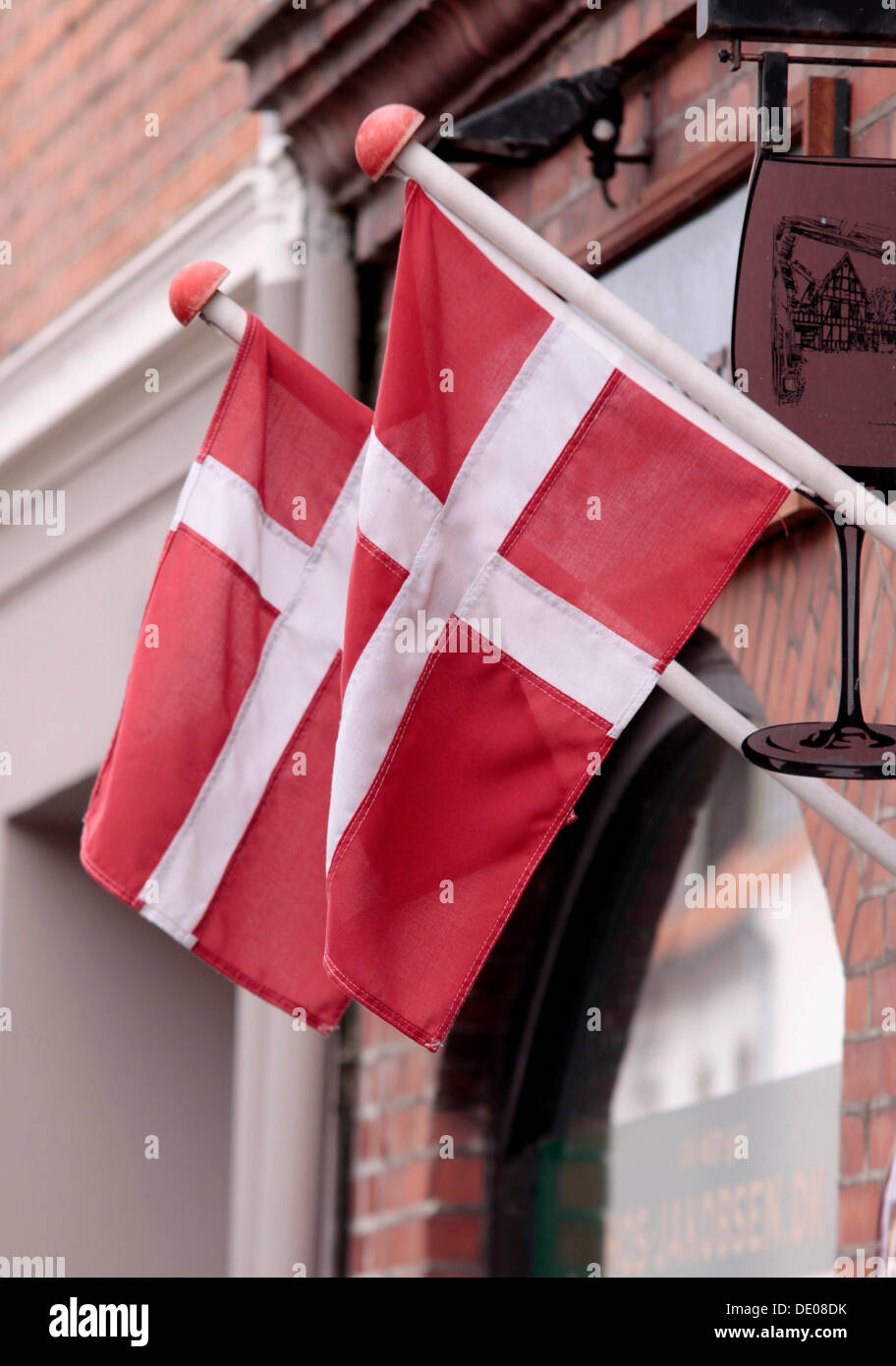 Danish flag Dannebrog Stock Photo