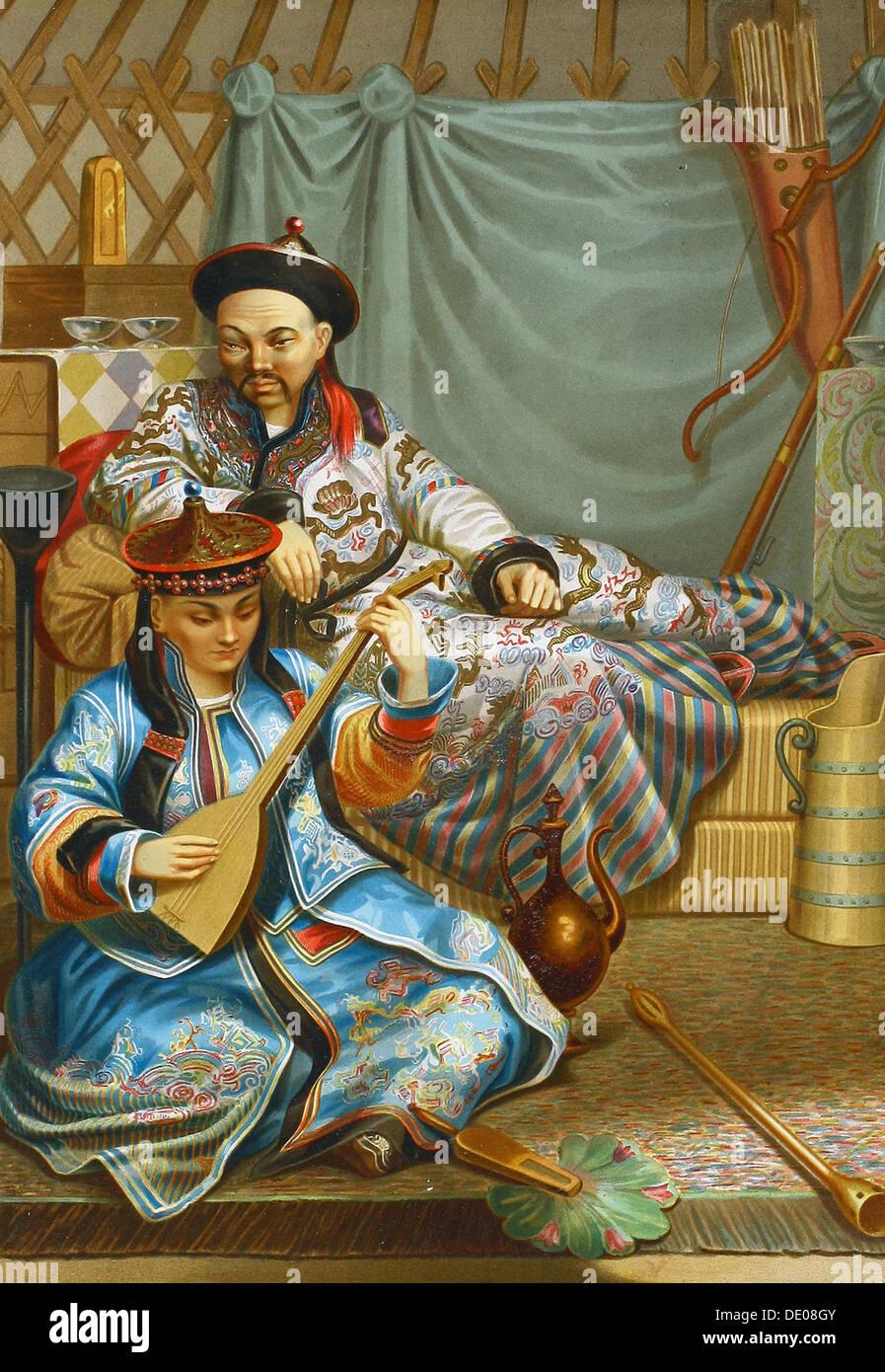 Buryats, 1862.  Artist: Anon - Stock Image