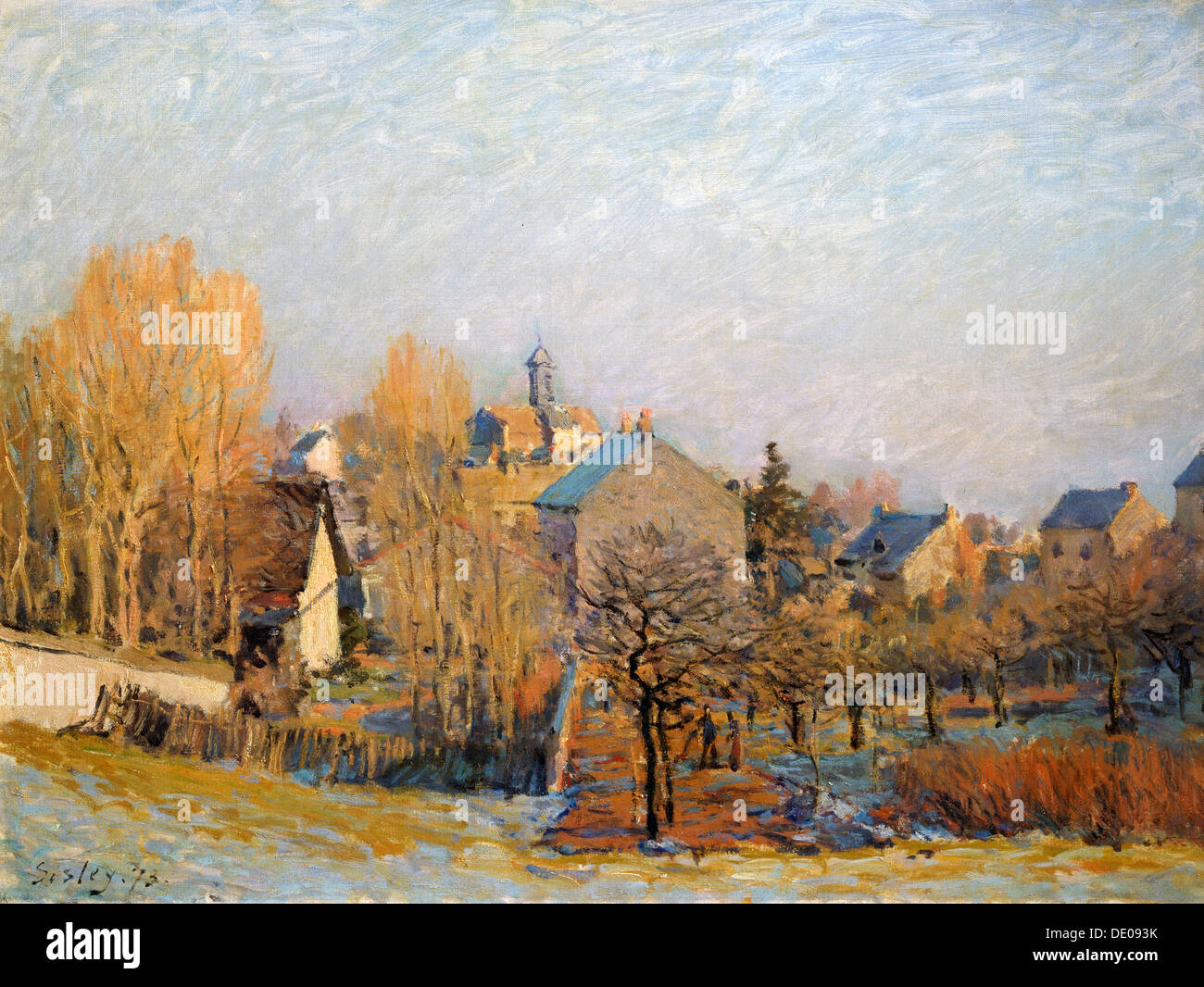 'Frost in Louveciennes', 1873.  Artist: Alfred Sisley - Stock Image