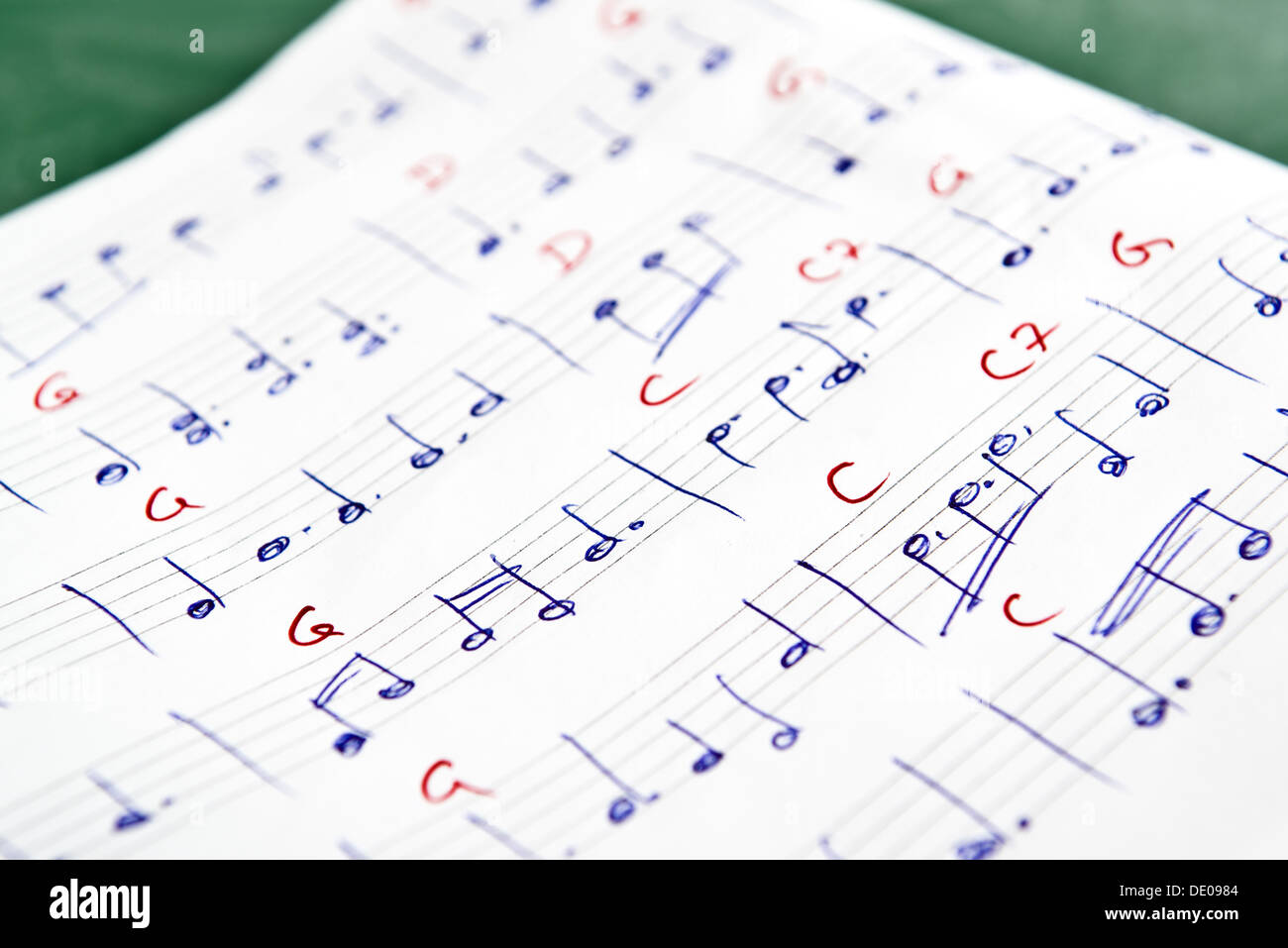 Musical Notes In Note Book With Guitar Chords Stock Photo 60243572