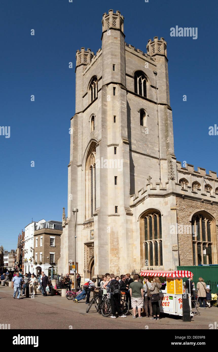 Great St Marys Church, the University church, Cambridge city centre, Cambridge, UK - Stock Image