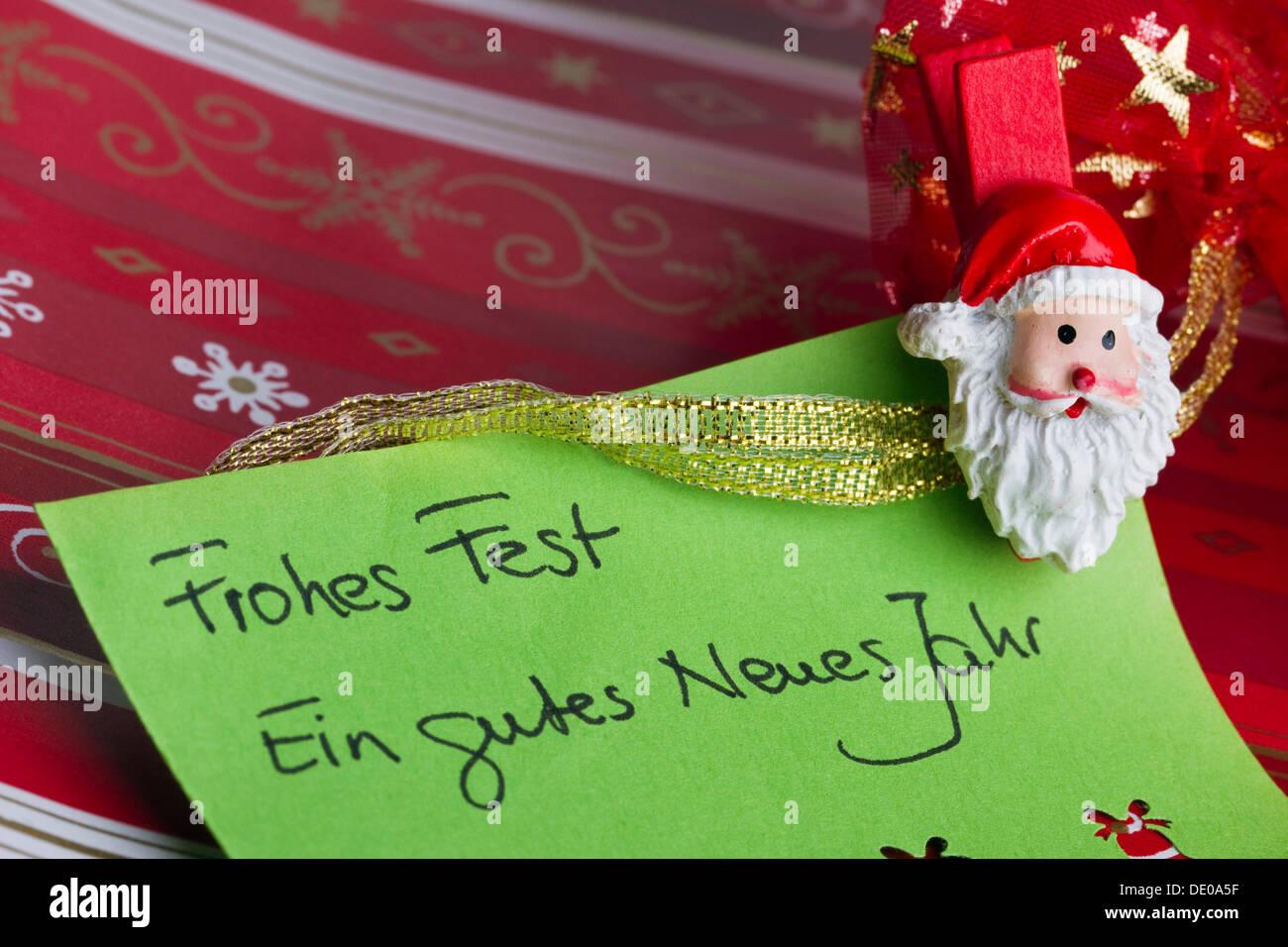 Christmas greeting card, Frohes Fest, Ein gutes neues Jahr, German ...