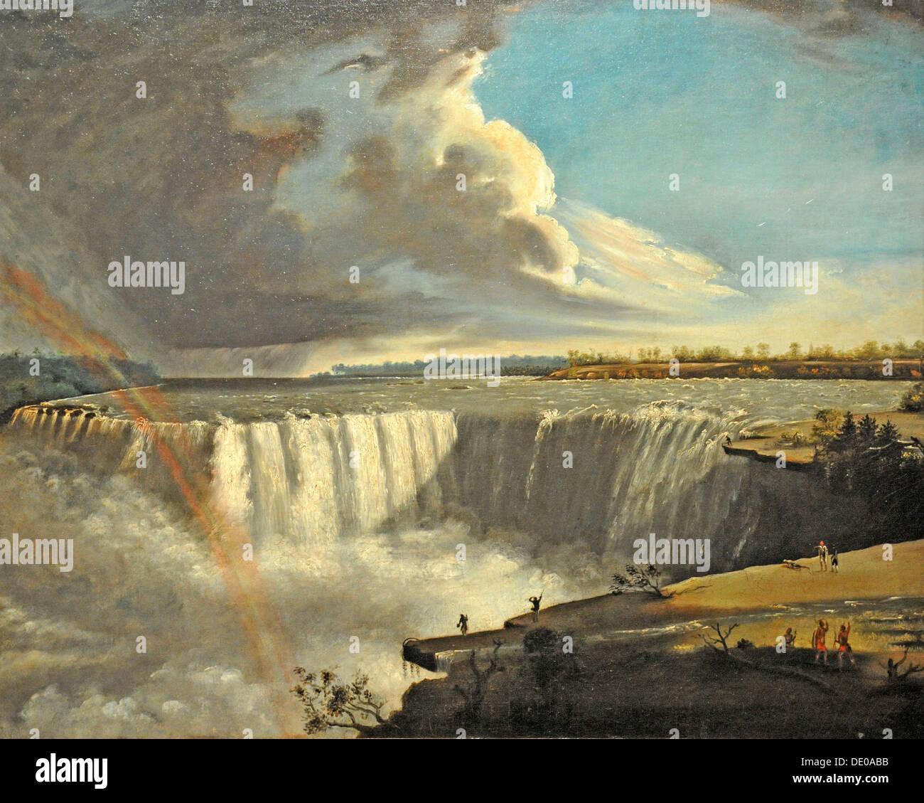 Niagara Falls from Table Rock, 1835. Artist: Morse, Samuel Finley Breese (1791-1872) - Stock Image
