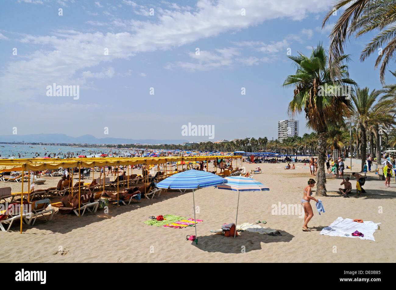 Пляж леванте в салоу фото