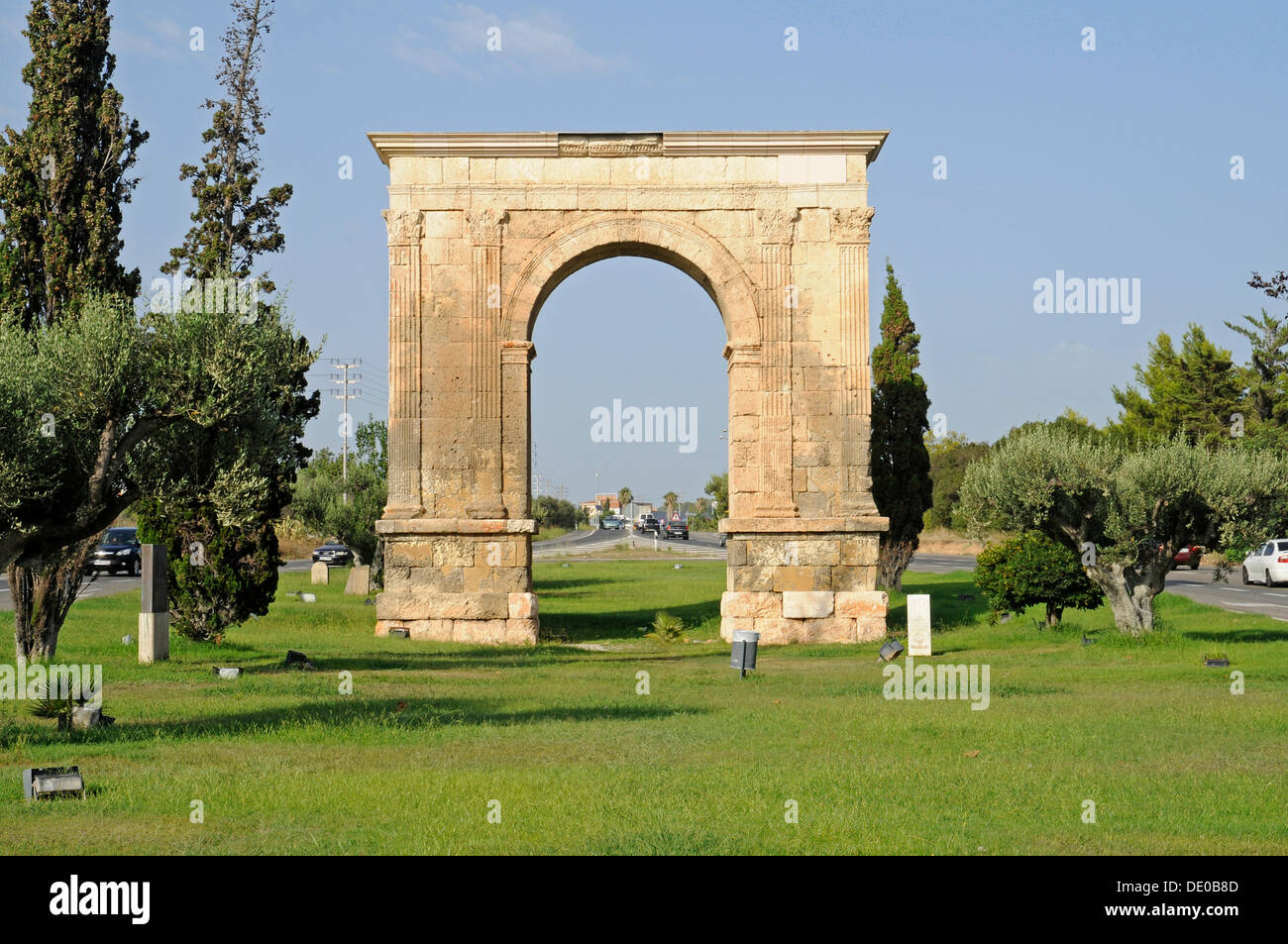arco de bara roman triumphal arch tarragona catalonia spain stock photo 60245149 alamy. Black Bedroom Furniture Sets. Home Design Ideas