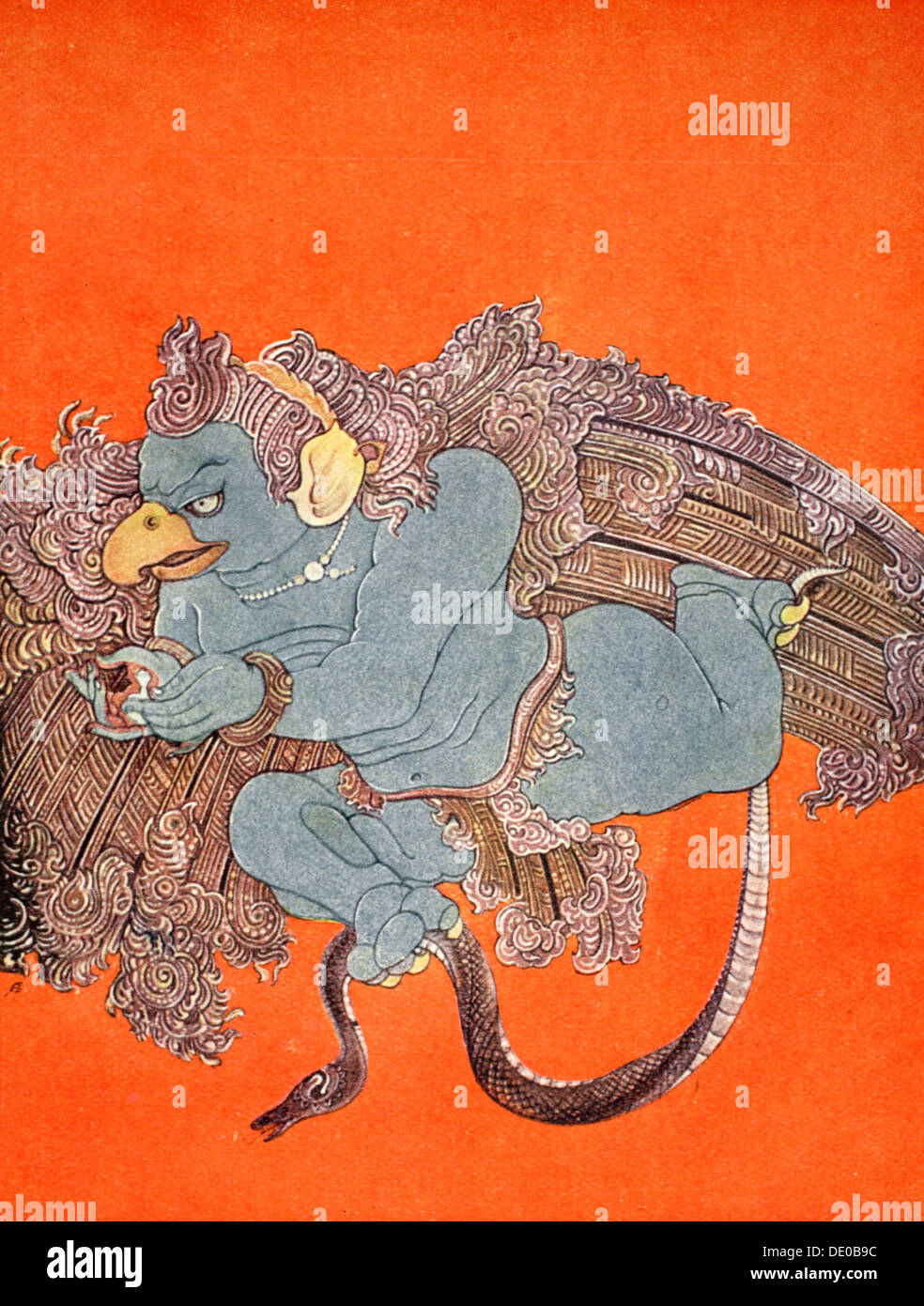 Garuda, 1913.  Artist: Nandalal Bose - Stock Image
