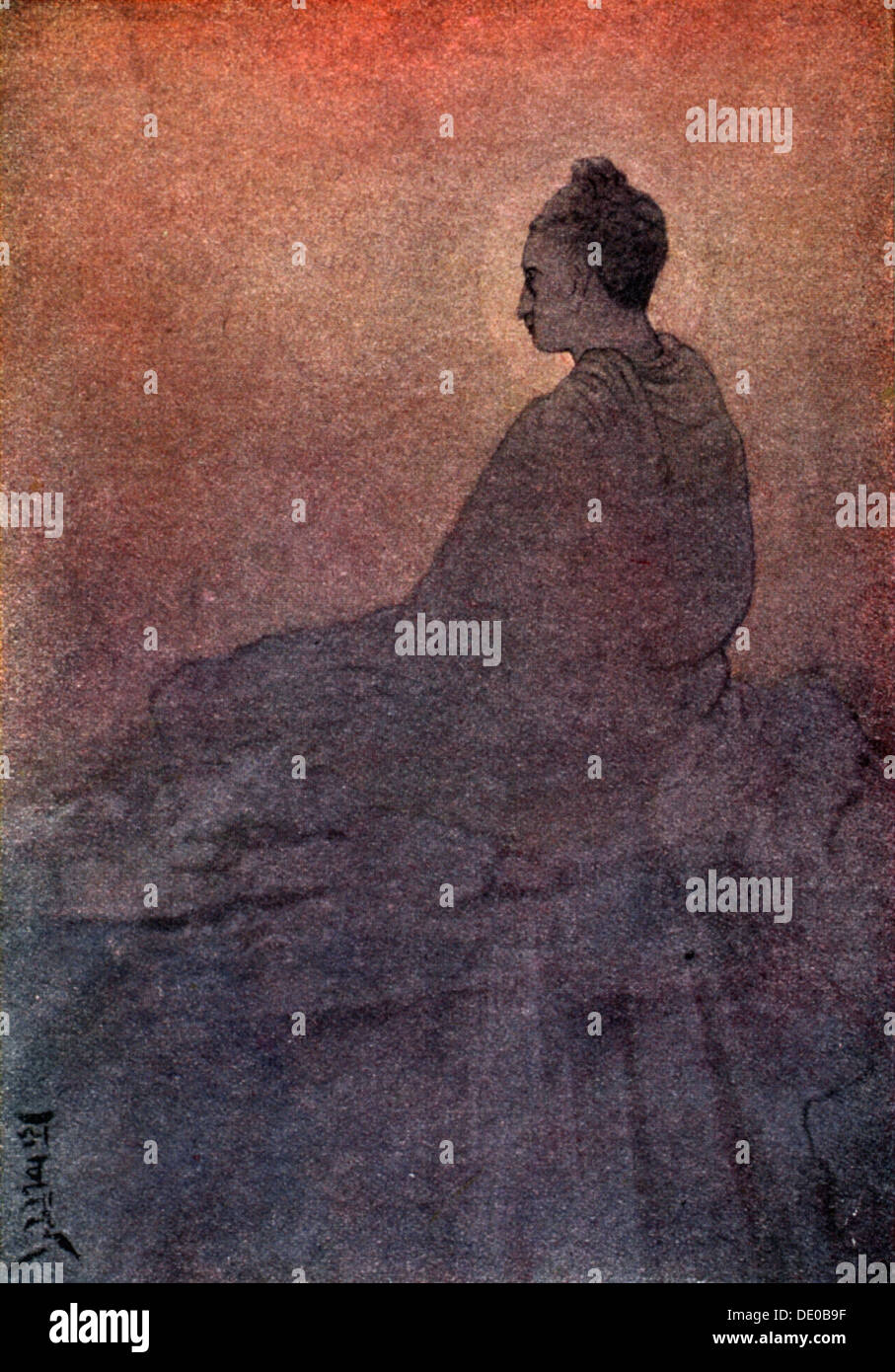 'The Victory of Buddha', 1913.  Artist: Rabindranath Tagore - Stock Image