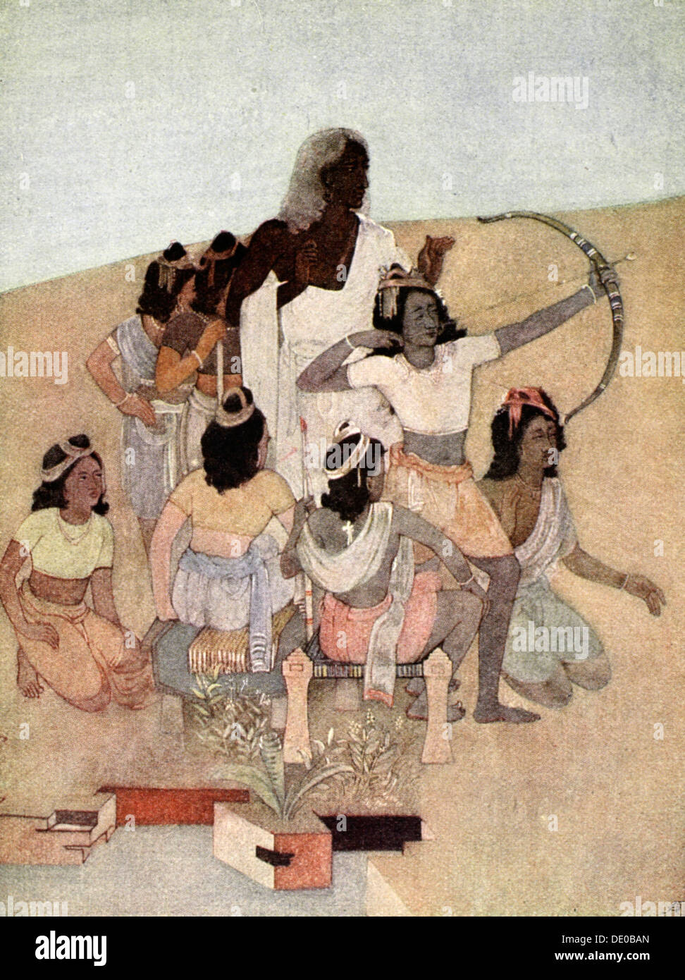 'The Trial of the Princes', 1913.  Artist: Nandalal Bose - Stock Image