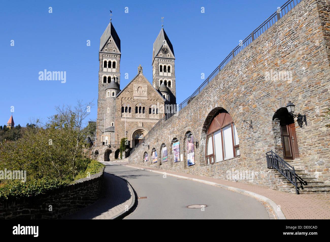 Parish Church, Clervaux, Luxembourg, Europe, PublicGround - Stock Image