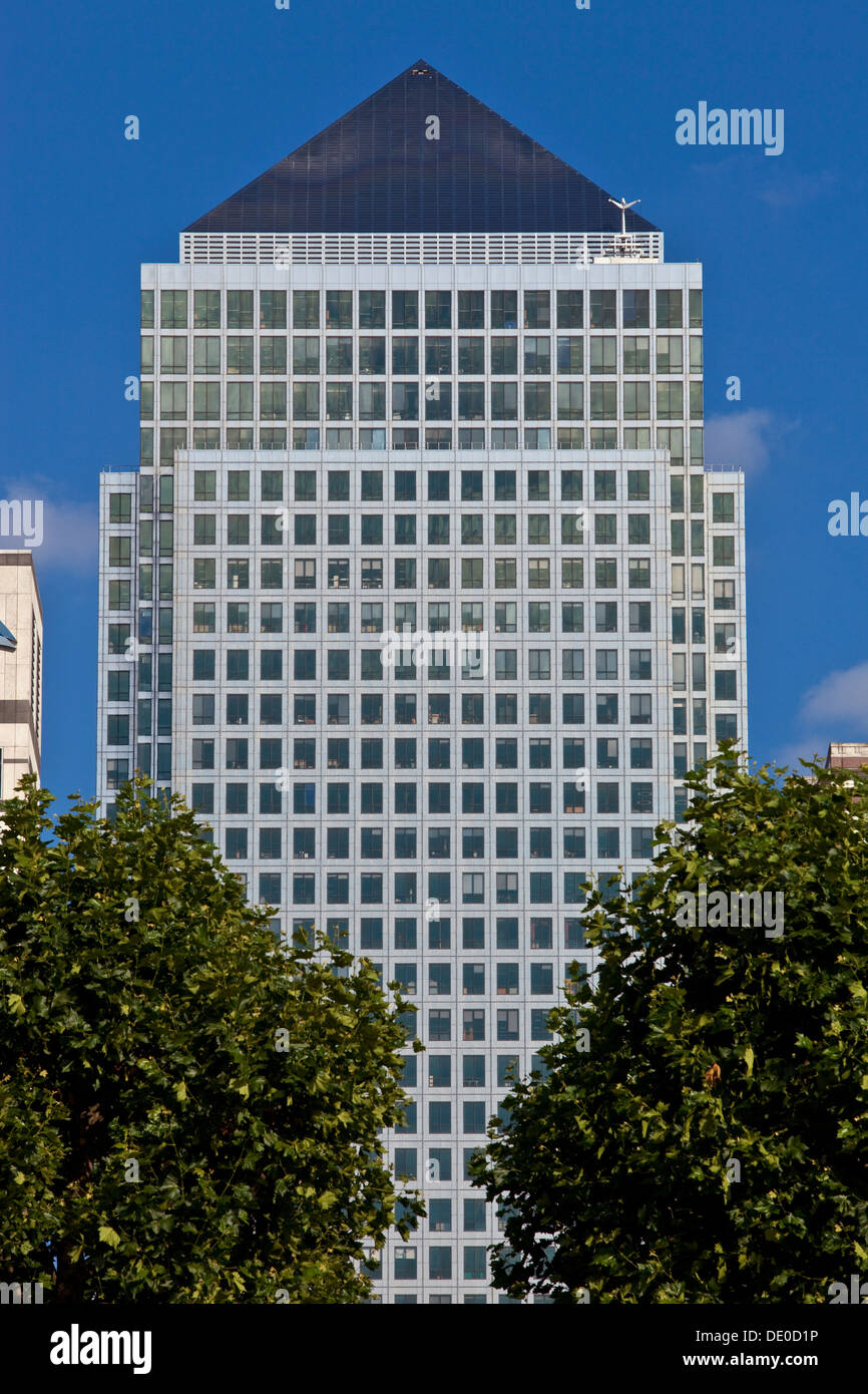 One Canada Square, Canary Wharf, London, England - Stock Image