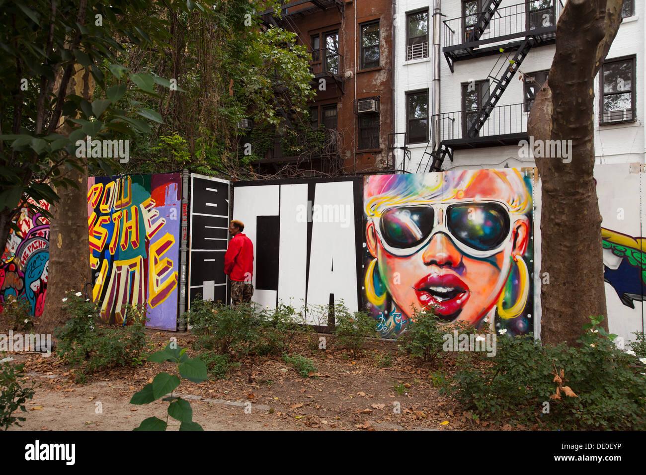 Street art on houston street manhattan new york united states of america
