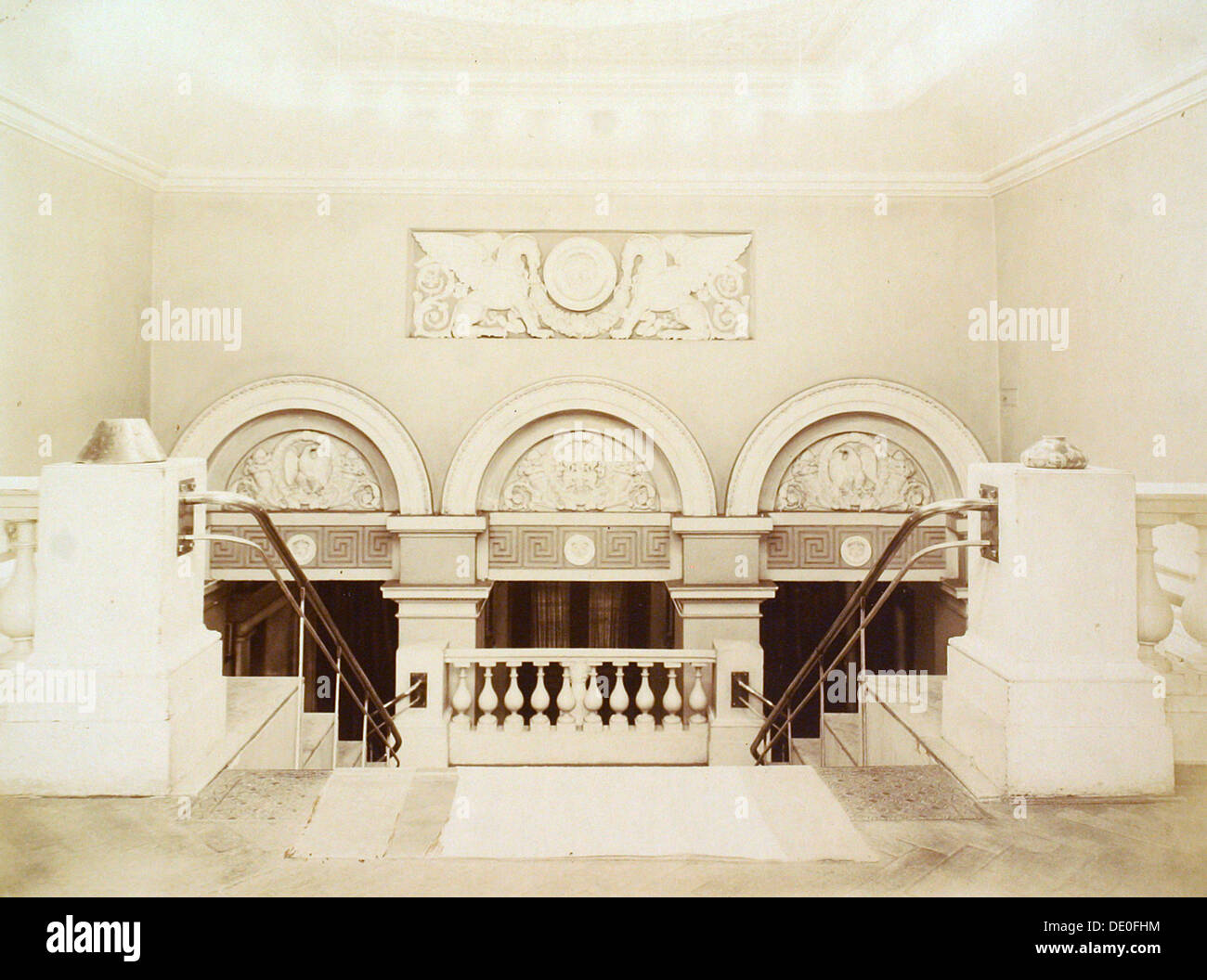 Main staircase, House of the Association of Literature and Arts, Russia, 1900s. - Stock Image