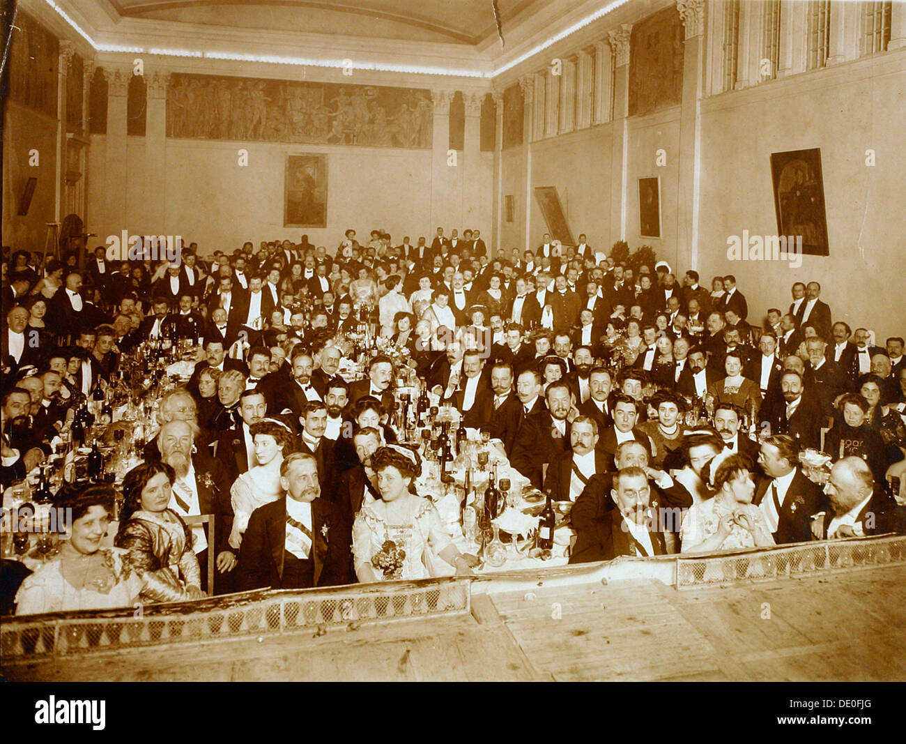 Restaurant, House of the Association of Literature and Arts, Russia, 1910s. - Stock Image