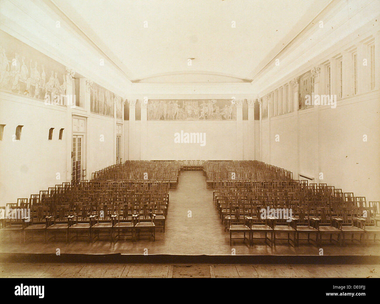 Concert hall, House of the Association of Literature and Arts, Russia, 1910s. - Stock Image