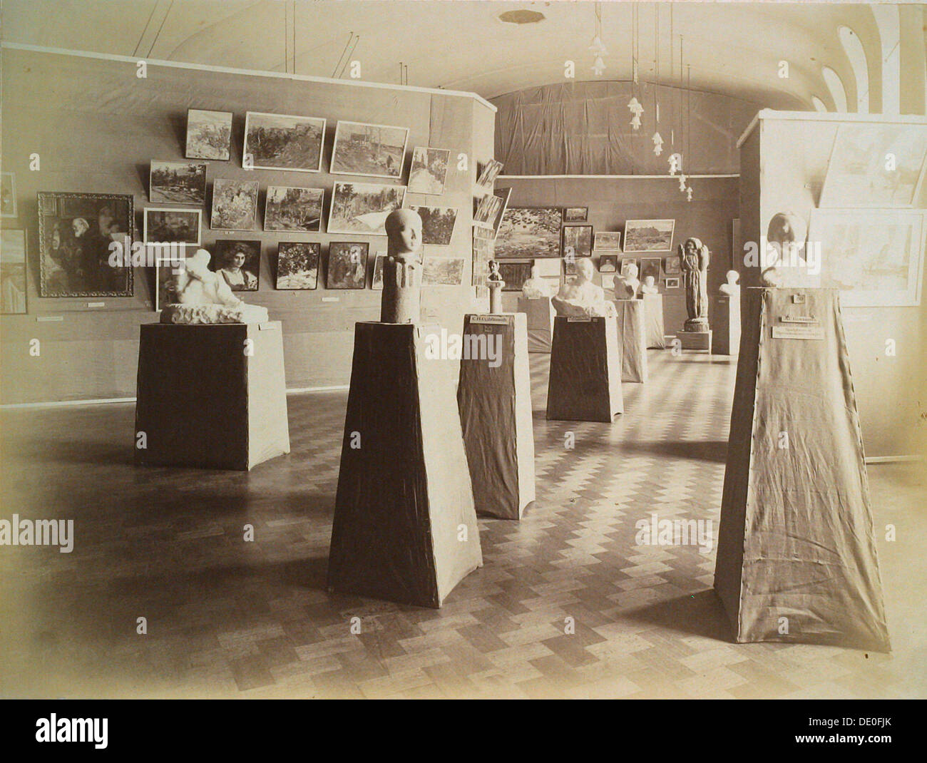 Exhibition hall, House of the Association of Literature and Arts, Russia, 1910s. - Stock Image