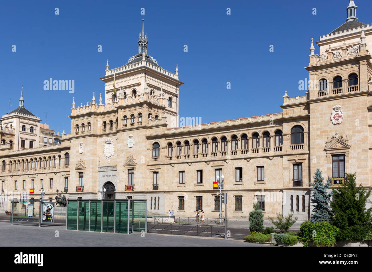 Historicist building of the Academy of Cavalry. - Stock Image