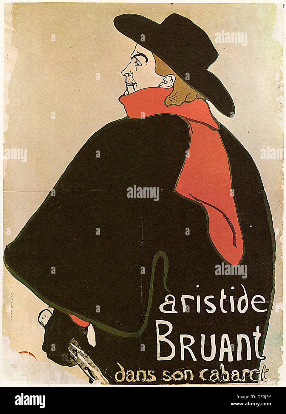 'Aristide Bruant in His Cabaret', (Poster), 1893.  Artist: Henri de Toulouse-Lautrec Stock Photo