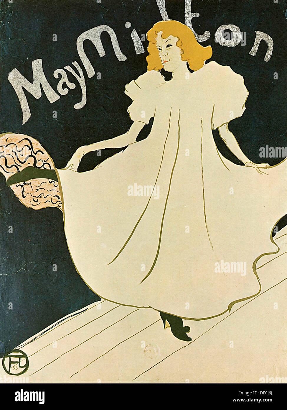 May Milton, 1895.  Artist: Henri de Toulouse-Lautrec - Stock Image