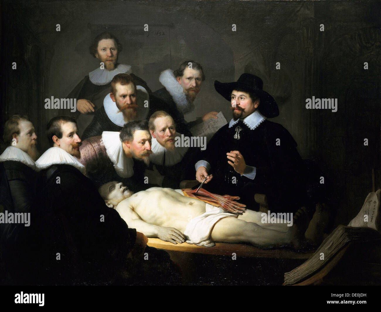 The Anatomy Lesson of Dr Nicolaes Tulp\', 1632. Artist: Rembrandt ...