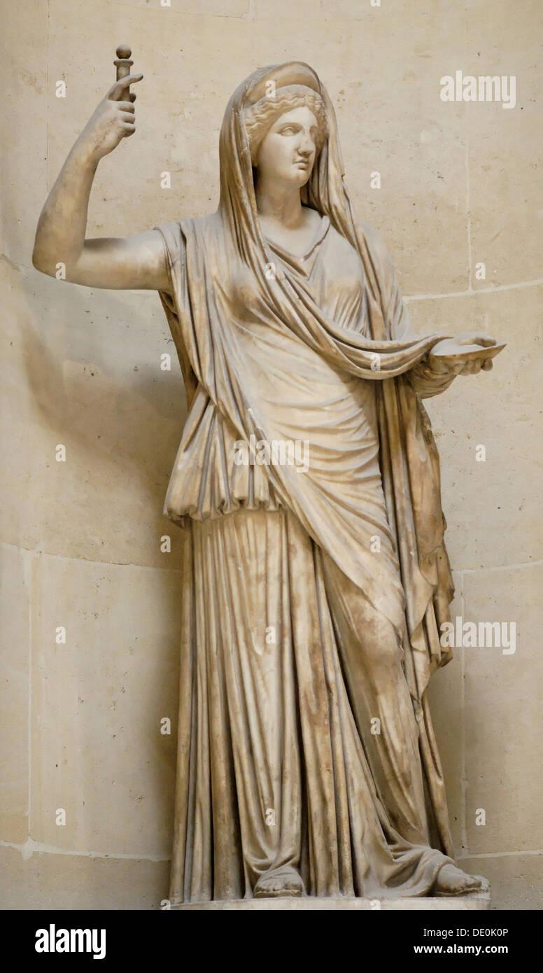 Hera Campana. Roman copy of an hellenistic original, 2th century BC. Artist: Art of Ancient Rome, Classical sculpture - Stock Image