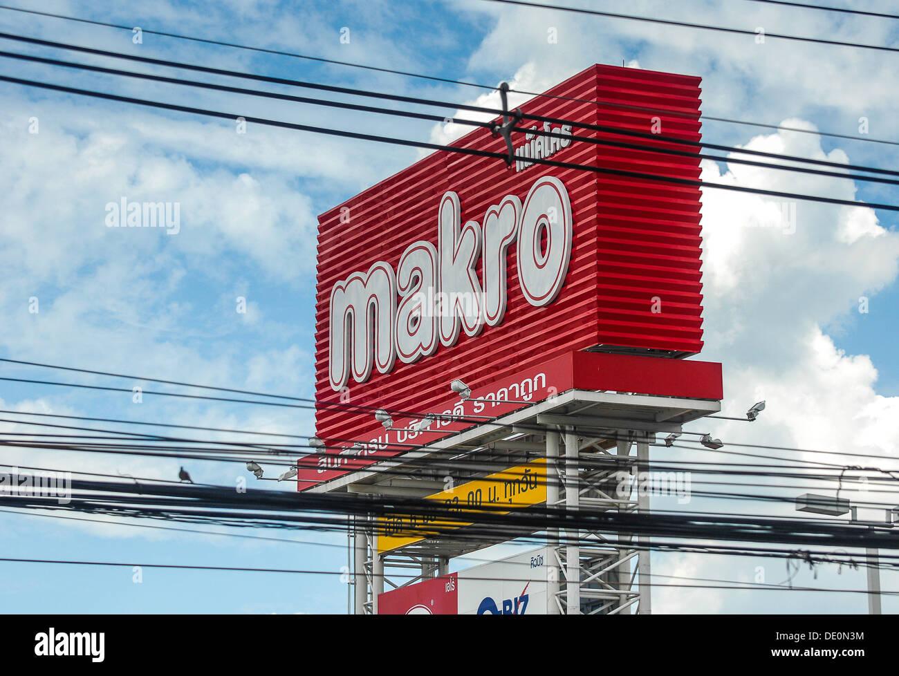 Makro sign - Stock Image