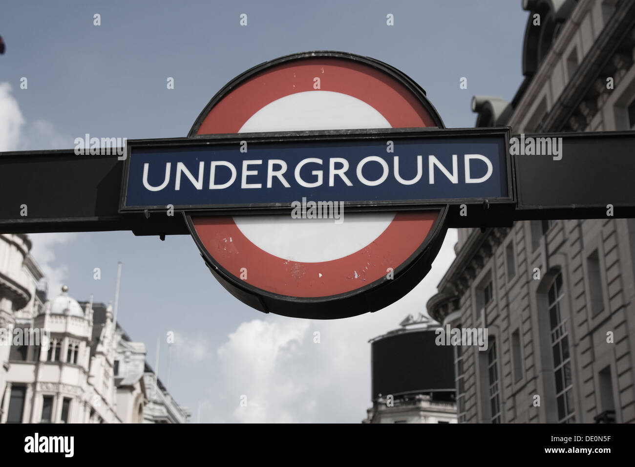 Underground station in picadilly - Stock Image