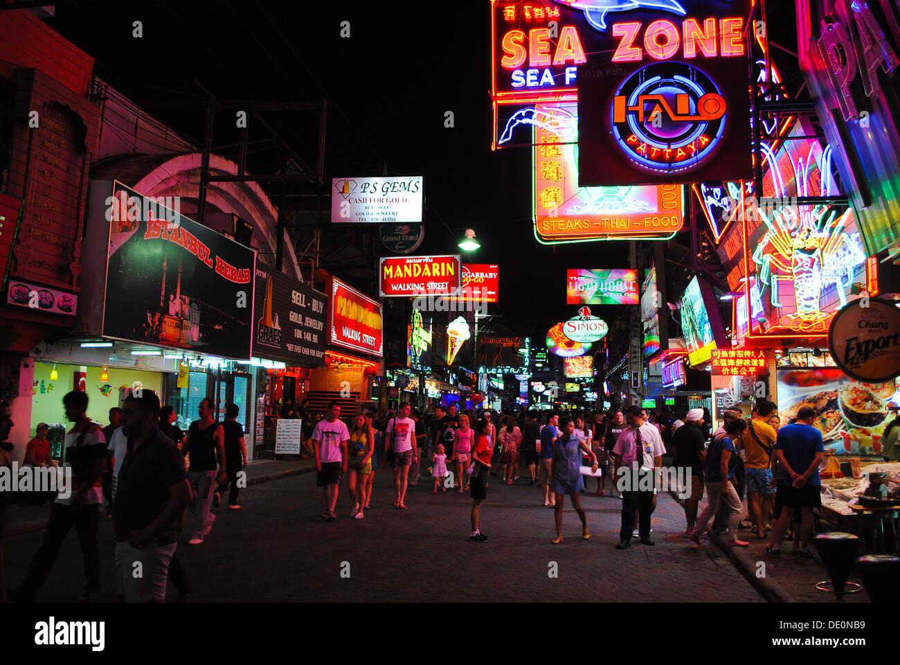 Walking street Pattaya Thailand Stock Photo
