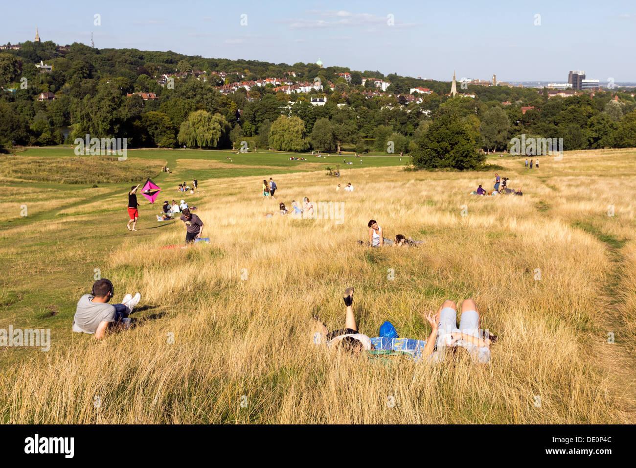 Hampstead Heath Late Summer- Camden - London - Stock Image