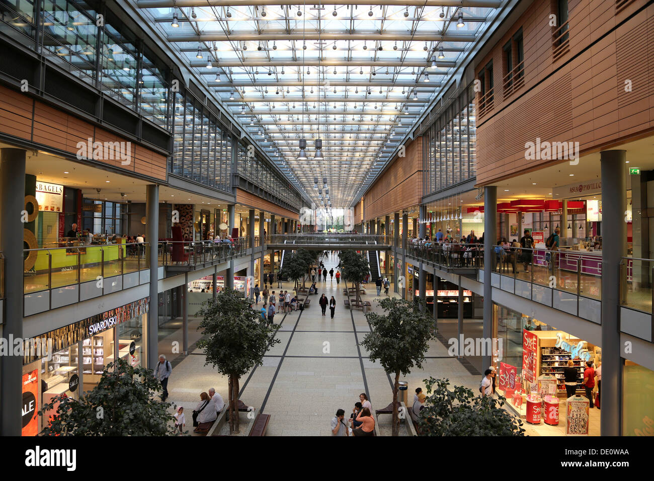 potsdamer platz arkaden shopping mall in berlin stock photo 60256178 alamy. Black Bedroom Furniture Sets. Home Design Ideas