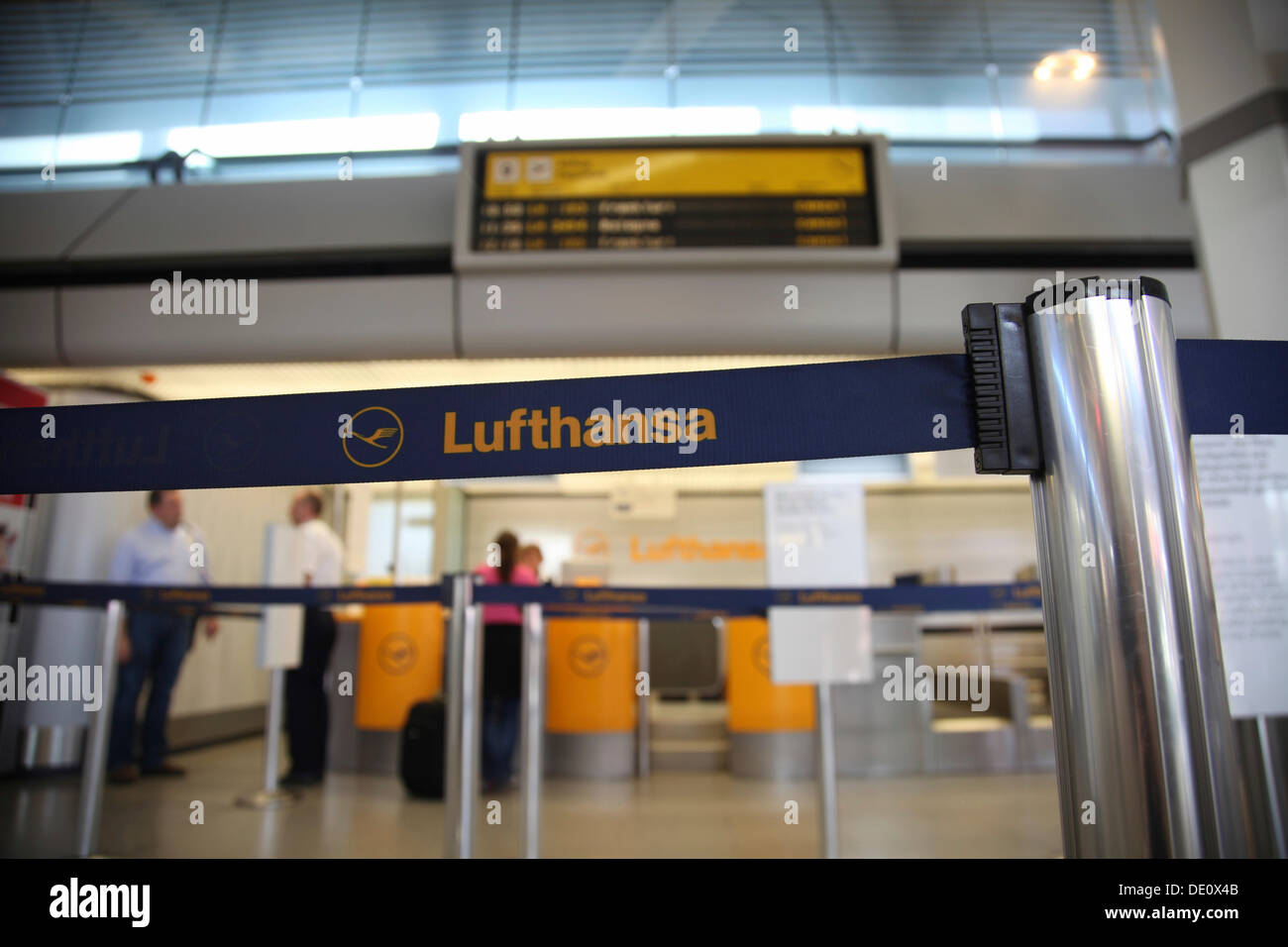 Delays and canceled flights due to the strike of the Lufthansa flight attendants, Berlin Tegel Airport, Berlin - Stock Image