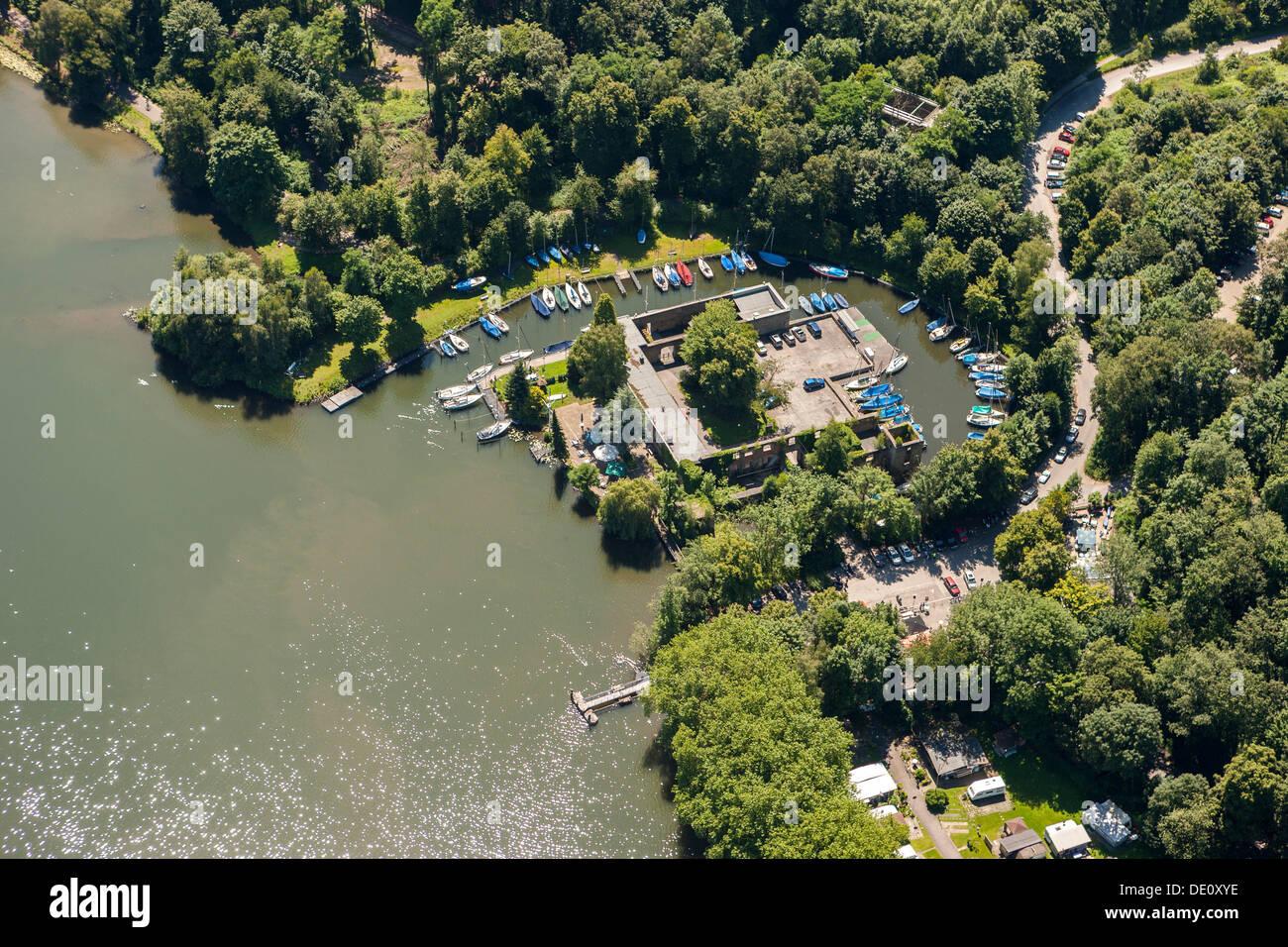 Aerial View Of Haus Scheppen Building On Lake Baldeneysee Essen