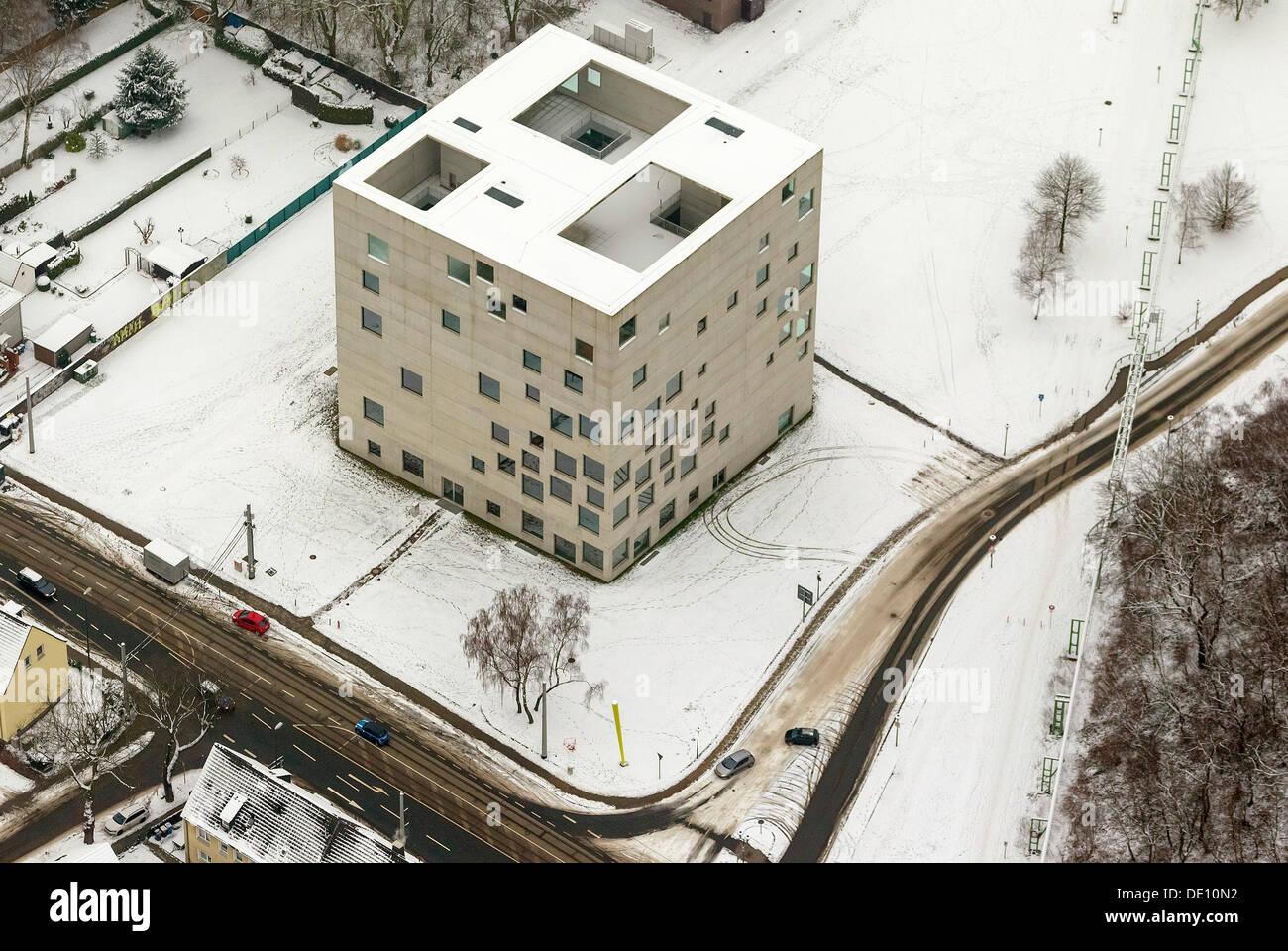 Zollverein Cube or SANAA Building, university building on the site of the Zeche Zollverein Coal Mine Industrial Complex, UNESCO - Stock Image
