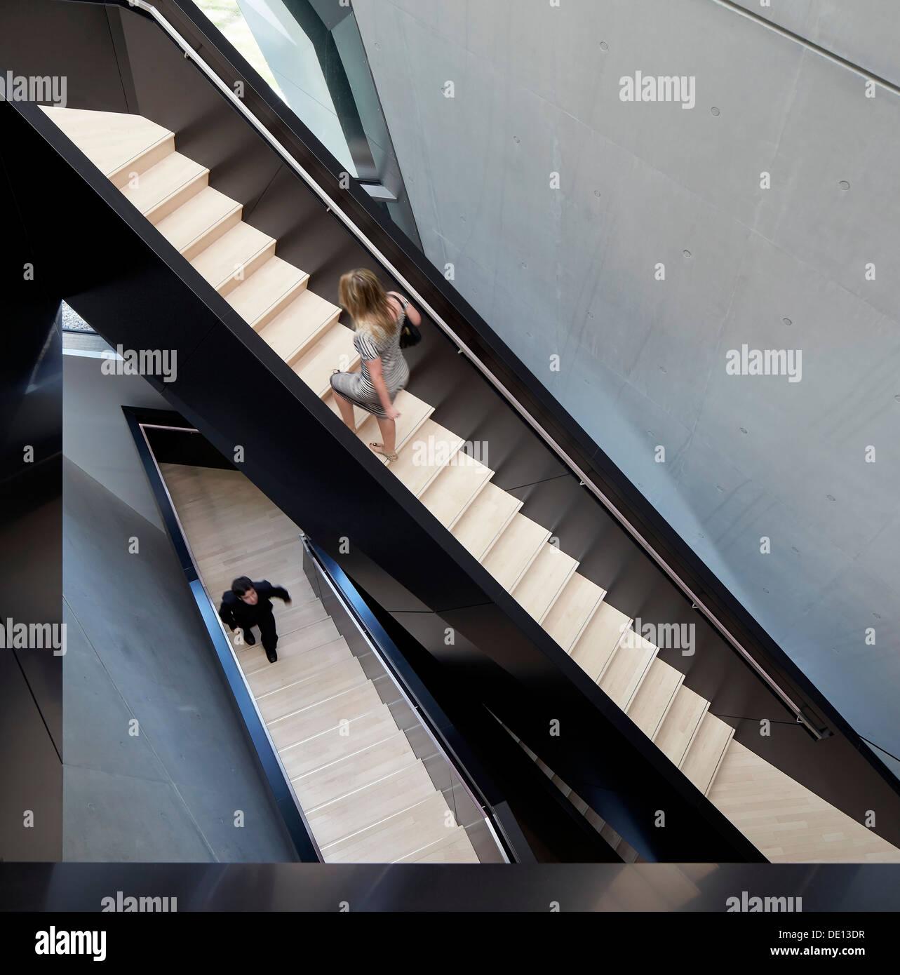 Eli & Edythe Broad Art Museum, Lansing, United States. Architect: Zaha Hadid Architects, 2013. Stock Photo